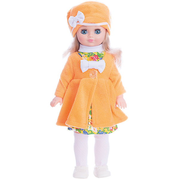 Кукла Лиза 20, со звуком, ВеснаБренды кукол<br>Большая очень красивая кукла от отечественного производителя способна не просто помочь ребенку весело проводить время, но и научить девочку одеваться со вкусом. На ней - модный костюм, всё можно снимать и надевать.<br>Кукла произносит несколько фраз, механизм работает от батареек. Очень красиво смотрятся пышные волосы, на которых можно делать прически. Сделана игрушка из качественных и безопасных для ребенка материалов. Такая кукла поможет ребенку освоить механизмы социальных взаимодействий, развить моторику и воображение. Также куклы помогают девочкам научиться заботиться о других.<br><br>Дополнительная информация:<br><br>- материал: пластмасса;<br>- волосы: прошивные;<br>- открывающиеся глаза;<br>- звуковой модуль;<br>- снимающаяся одежда и обувь;<br>- высота: 42 см.<br><br>Комплектация:<br><br>- одежда;<br>- три батарейки СЦ 357.<br><br>Куклу Инна 19, со звуком, от марки Весна можно купить в нашем магазине.<br><br>Ширина мм: 420<br>Глубина мм: 240<br>Высота мм: 440<br>Вес г: 750<br>Возраст от месяцев: 36<br>Возраст до месяцев: 1188<br>Пол: Женский<br>Возраст: Детский<br>SKU: 4701835
