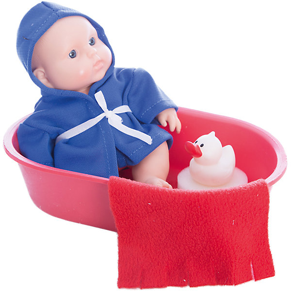 Кукла Карапуз в ванночке, девочка, ВеснаКуклы<br>Симпатичная и качественная кукла от отечественного производителя способна не просто помочь ребенку весело проводить время, но и научить девочку заботиться о других. На игрушке - симпатичная одежда и шапочка, всё можно снимать и надевать. Также ванночка, в которой ее можно купать.<br>Такая кукла помогает ребенку нарабатывать социальные навыки и весело познавать мир. Сделана игрушка из качественных, приятных на ощупь и безопасных для ребенка материалов.<br><br>Отличительные особенности куклы:<br><br>- материал: пластмасса;<br>- волосы: рельефная имитация;<br>- можно купать;<br>- снимающаяся одежда;<br>- высота: 20 см.<br><br>Куклу Карапуз в ванночке от марки Весна можно купить в нашем магазине.<br>Ширина мм: 130; Глубина мм: 750; Высота мм: 240; Вес г: 300; Возраст от месяцев: 36; Возраст до месяцев: 1188; Пол: Женский; Возраст: Детский; SKU: 4701837;