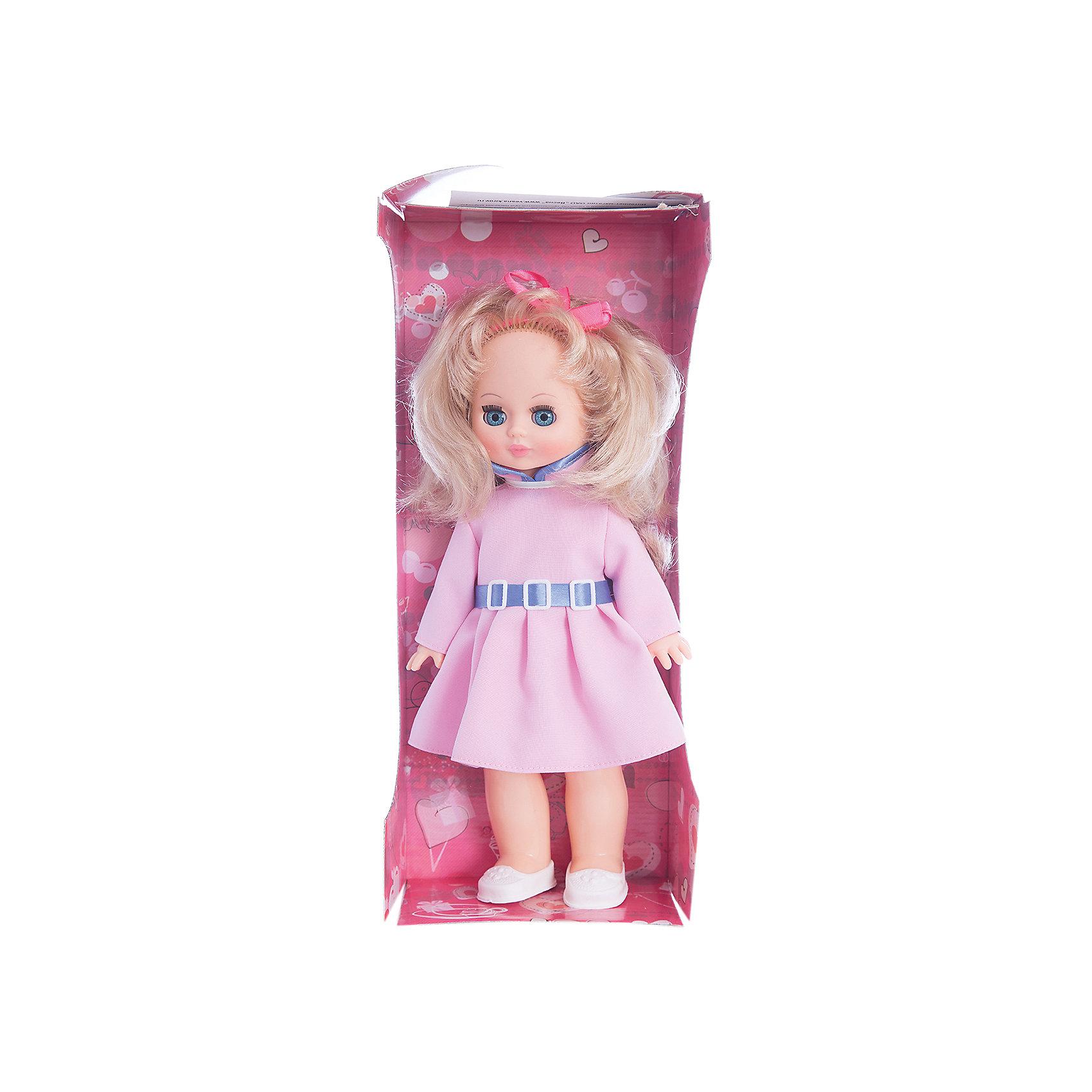 Кукла Жанна 7, со звуком, 36 см, ВеснаКрасивая кукла от отечественного производителя способна не просто помочь ребенку весело проводить время, но и научить девочку одеваться со вкусом. На ней - модный костюм, всё можно снимать и надевать.<br>Кукла произносит несколько фраз, механизм работает от батареек. Очень красиво смотрятся пышные волосы, на которых можно делать прически. Сделана игрушка из качественных и безопасных для ребенка материалов. Такая кукла поможет ребенку освоить механизмы социальных взаимодействий, развить моторику и воображение. Также куклы помогают девочкам научиться заботиться о других.<br><br>Дополнительная информация:<br><br>- материал: пластмасса;<br>- волосы: прошивные;<br>- открывающиеся глаза;<br>- звуковой модуль;<br>- снимающаяся одежда и обувь;<br>- высота: 36 см.<br><br>Комплектация:<br><br>- одежда;<br>- три батарейки СЦ 357.<br><br>Куклу Жанна 7, со звуком, от марки Весна можно купить в нашем магазине.<br><br>Ширина мм: 170<br>Глубина мм: 100<br>Высота мм: 420<br>Вес г: 340<br>Возраст от месяцев: 36<br>Возраст до месяцев: 1188<br>Пол: Женский<br>Возраст: Детский<br>SKU: 4701840