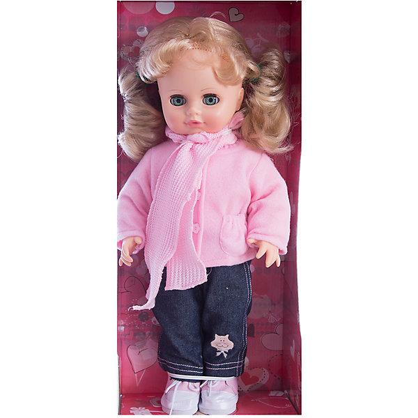 Кукла Инна 38, со звуком, ВеснаКуклы<br>Модно одетая красивая кукла от отечественного производителя способна не просто помочь ребенку весело проводить время, но и научить девочку одеваться со вкусом. На ней - модный костюм, всё можно снимать и надевать.<br>Кукла произносит несколько фраз, механизм работает от батареек. Очень красиво смотрятся пышные волосы, на которых можно делать прически. Сделана игрушка из качественных и безопасных для ребенка материалов. Такая кукла поможет ребенку освоить механизмы социальных взаимодействий, развить моторику и воображение. Также куклы помогают девочкам научиться заботиться о других.<br><br>Дополнительная информация:<br><br>- материал: пластмасса;<br>- волосы: прошивные;<br>- открывающиеся глаза;<br>- звуковой модуль;<br>- снимающаяся одежда и обувь;<br>- высота: 43 см.<br><br>Комплектация:<br><br>- одежда;<br>- три батарейки СЦ 357.<br><br>Куклу Инна 38, со звуком, от марки Весна можно купить в нашем магазине.<br><br>Ширина мм: 210<br>Глубина мм: 130<br>Высота мм: 430<br>Вес г: 550<br>Возраст от месяцев: 36<br>Возраст до месяцев: 1188<br>Пол: Женский<br>Возраст: Детский<br>SKU: 4701841
