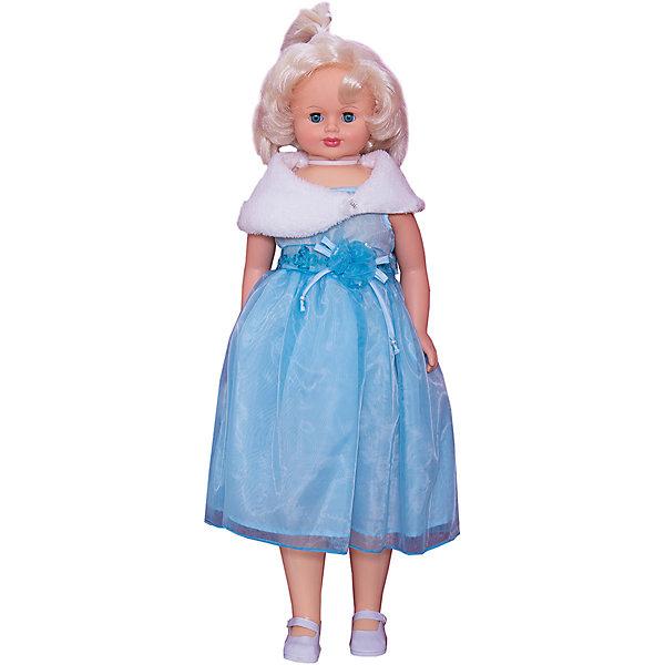 Кукла Снежана 12, со звуком, 87 см, ВеснаБренды кукол<br>Большая очень красивая кукла от отечественного производителя способна не просто помочь ребенку весело проводить время, но и научить девочку одеваться со вкусом. На ней - нарядное платье и туфли, а также сумочка, всё можно снимать и надевать.<br>Кукла произносит несколько фраз, механизм работает от батареек. Очень красиво смотрятся пышные волосы, на которых можно делать прически. Сделана игрушка из качественных и безопасных для ребенка материалов. Такая кукла поможет ребенку освоить механизмы социальных взаимодействий, развить моторику и воображение. Также куклы помогают девочкам научиться заботиться о других.<br><br>Дополнительная информация:<br><br>- материал: пластмасса;<br>- волосы: прошивные;<br>- открывающиеся глаза;<br>- звуковой модуль;<br>- снимающаяся одежда и обувь;<br>- высота: 87 см.<br><br>Комплектация:<br><br>- одежда;<br>- три батарейки СЦ 357.<br><br>Куклу Снежана 12, со звуком, от марки Весна можно купить в нашем магазине.<br>Ширина мм: 380; Глубина мм: 170; Высота мм: 920; Вес г: 1850; Возраст от месяцев: 36; Возраст до месяцев: 1188; Пол: Женский; Возраст: Детский; SKU: 4701842;