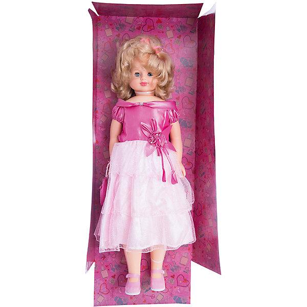 Кукла Снежана 8, со звуком, 87 см, ВеснаБренды кукол<br>Большая очень красивая кукла от отечественного производителя способна не просто помочь ребенку весело проводить время, но и научить девочку одеваться со вкусом. На ней - нарядное платье и туфли, а также сумочка, всё можно снимать и надевать.<br>Кукла произносит несколько фраз, механизм работает от батареек. Очень красиво смотрятся пышные волосы, на которых можно делать прически. Сделана игрушка из качественных и безопасных для ребенка материалов. Такая кукла поможет ребенку освоить механизмы социальных взаимодействий, развить моторику и воображение. Также куклы помогают девочкам научиться заботиться о других.<br><br>Дополнительная информация:<br><br>- материал: пластмасса;<br>- волосы: прошивные;<br>- открывающиеся глаза;<br>- звуковой модуль;<br>- снимающаяся одежда и обувь;<br>- высота: 87 см.<br><br>Комплектация:<br><br>- одежда;<br>- три батарейки СЦ 357.<br><br>Куклу Снежана 8, со звуком, от марки Весна можно купить в нашем магазине.<br><br>Ширина мм: 380<br>Глубина мм: 170<br>Высота мм: 920<br>Вес г: 1850<br>Возраст от месяцев: 36<br>Возраст до месяцев: 1188<br>Пол: Женский<br>Возраст: Детский<br>SKU: 4701843
