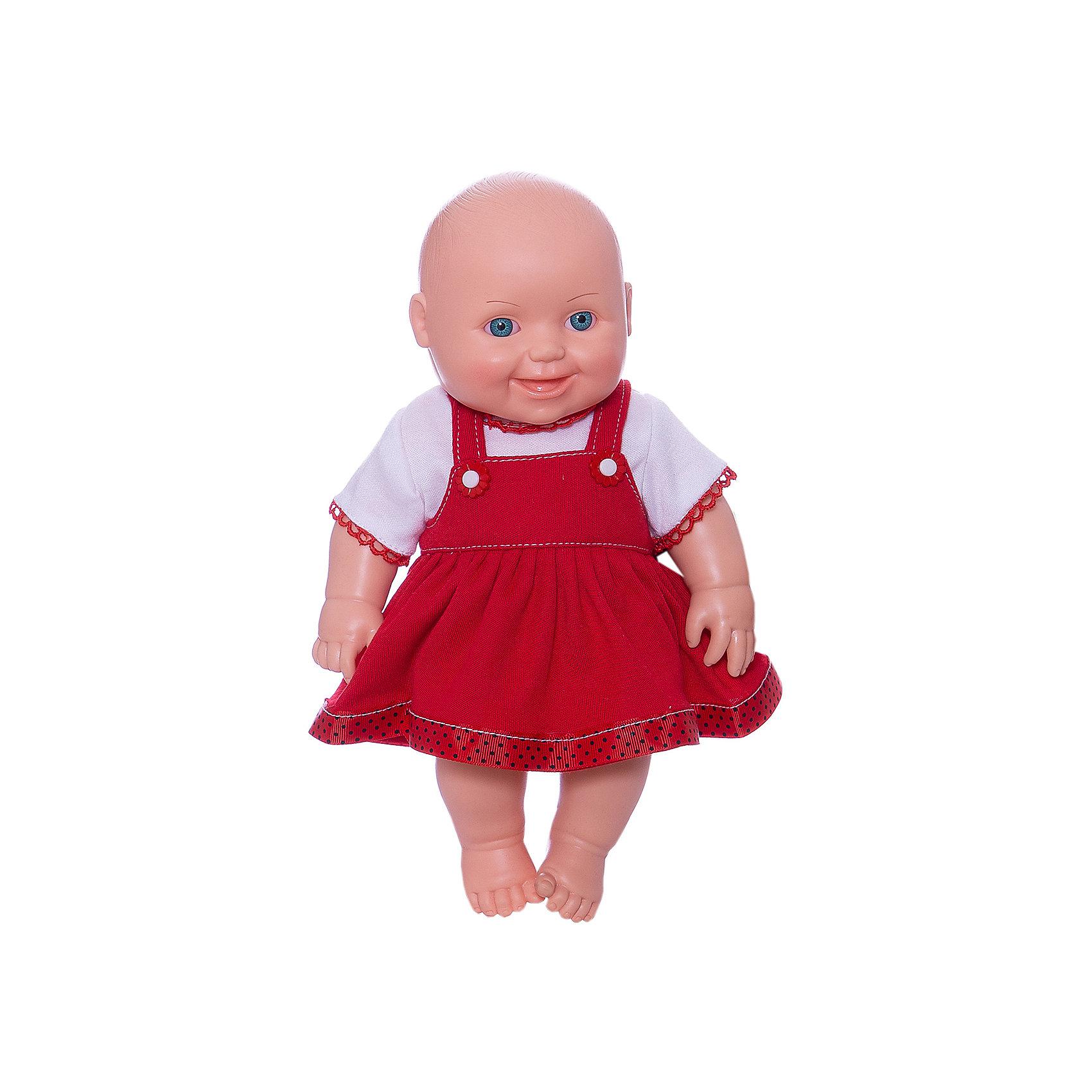 Кукла Малышка 7, девочка, 31 см, ВеснаКлассические куклы<br>Симпатичная и качественная кукла от отечественного производителя способна не просто помочь ребенку весело проводить время, но и научить девочку заботиться о других. На игрушке - симпатичная одежда, всё можно снимать и надевать. У игрушки двигаются руки и ноги, голова поворачивается.<br>Такая кукла помогает ребенку нарабатывать социальные навыки и весело познавать мир. Сделана игрушка из качественных, приятных на ощупь и безопасных для ребенка материалов.<br><br>Отличительные особенности куклы:<br><br>- материал: пластмасса;<br>- волосы: рельефная имитация;<br>- двигаются руки и ноги;<br>- голова поворачивается;<br>- снимающаяся одежда;<br>- высота: 31 см.<br><br>Куклу Малышка 7 от марки Весна можно купить в нашем магазине.<br><br>Ширина мм: 335<br>Глубина мм: 350<br>Высота мм: 205<br>Вес г: 460<br>Возраст от месяцев: 36<br>Возраст до месяцев: 1188<br>Пол: Женский<br>Возраст: Детский<br>SKU: 4701846