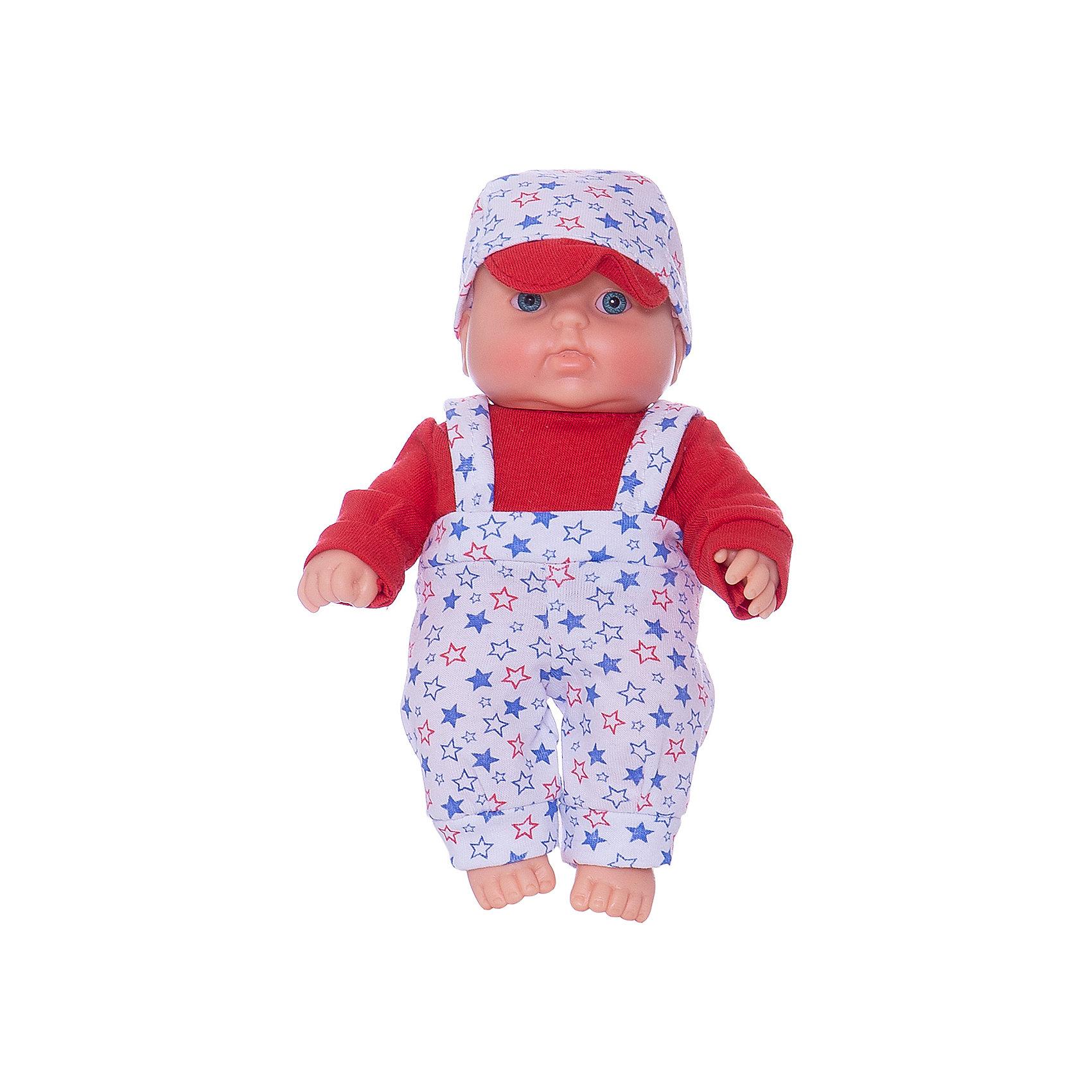 Кукла Карапуз 8, мальчик, 20 см, ВеснаСимпатичная и качественная кукла от отечественного производителя способна не просто помочь ребенку весело проводить время, но и научить девочку заботиться о других. На игрушке - симпатичная одежда и шапочка, всё можно снимать и надевать. Также прилагается красивый конверт-одеяло.<br>Такая кукла помогает ребенку нарабатывать социальные навыки и весело познавать мир. Сделана игрушка из качественных, приятных на ощупь и безопасных для ребенка материалов.<br><br>Отличительные особенности куклы:<br><br>- материал: пластмасса;<br>- волосы: рельефная имитация;<br>- можно купать;<br>- снимающаяся одежда;<br>- высота: 20 см.<br><br>Куклу Карапуз 8 от марки Весна можно купить в нашем магазине.<br><br>Ширина мм: 335<br>Глубина мм: 350<br>Высота мм: 205<br>Вес г: 200<br>Возраст от месяцев: 36<br>Возраст до месяцев: 1188<br>Пол: Женский<br>Возраст: Детский<br>SKU: 4701847