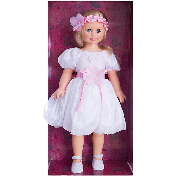 Кукла Милана 8, со звуком, 70 см, ВеснаКуклы<br>Большая очень красивая кукла от отечественного производителя способна не просто помочь ребенку весело проводить время, но и научить девочку одеваться со вкусом. На ней - нарядное платье и туфли, всё можно снимать и надевать.<br>Кукла произносит несколько фраз, механизм работает от батареек. Очень красиво смотрятся пышные волосы, на которых можно делать прически. Сделана игрушка из качественных и безопасных для ребенка материалов. Такая кукла поможет ребенку освоить механизмы социальных взаимодействий, развить моторику и воображение. Также куклы помогают девочкам научиться заботиться о других.<br><br>Дополнительная информация:<br><br>- материал: пластмасса;<br>- волосы: прошивные;<br>- открывающиеся глаза;<br>- звуковой модуль;<br>- снимающаяся одежда и обувь;<br>- высота: 70 см.<br><br>Комплектация:<br><br>- одежда;<br>- три батарейки СЦ 357.<br><br>Куклу Милана 8, со звуком, от марки Весна можно купить в нашем магазине.<br>Ширина мм: 700; Глубина мм: 340; Высота мм: 700; Вес г: 2080; Возраст от месяцев: 36; Возраст до месяцев: 1188; Пол: Женский; Возраст: Детский; SKU: 4701849;