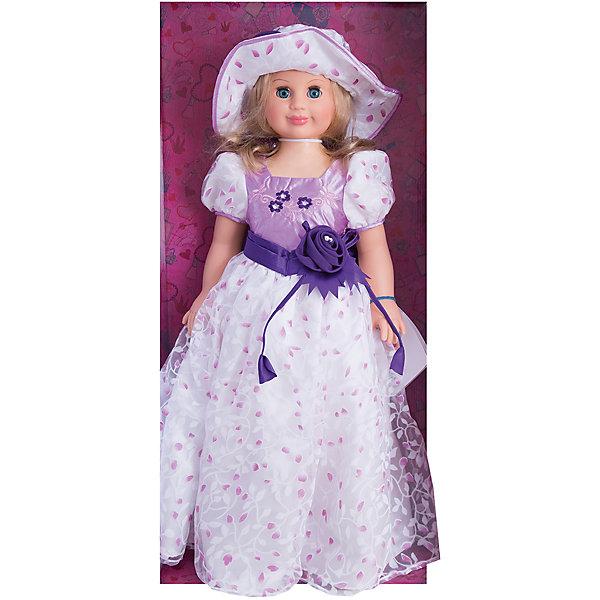 Кукла Милана 6, со звуком, 70 см, ВеснаБренды кукол<br>Очень красивая большая кукла от отечественного производителя способна не просто помочь ребенку весело проводить время, но и научить девочку одеваться со вкусом. На ней - нарядное платье, шляпка и туфли, всё можно снимать и надевать. Это отличный подарок девочке!<br>Кукла произносит несколько фраз, механизм работает от батареек. Очень красиво смотрятся пышные волосы, на которых можно делать прически. Сделана игрушка из качественных и безопасных для ребенка материалов. Такая кукла поможет ребенку освоить механизмы социальных взаимодействий, развить моторику и воображение. Также куклы помогают девочкам научиться заботиться о других. <br><br>Дополнительная информация:<br><br>- материал: пластмасса;<br>- волосы: прошивные;<br>- открывающиеся глаза;<br>- звуковой модуль;<br>- снимающаяся одежда и обувь;<br>- высота: 70 см.<br><br>Комплектация:<br><br>- одежда;<br>- три батарейки СЦ 357.<br><br>Куклу Милана 6, со звуком, от марки Весна можно купить в нашем магазине.<br>Ширина мм: 700; Глубина мм: 340; Высота мм: 700; Вес г: 2080; Возраст от месяцев: 36; Возраст до месяцев: 1188; Пол: Женский; Возраст: Детский; SKU: 4701850;