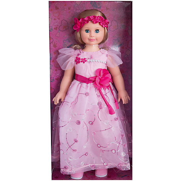 Кукла Милана 7, со звуком, 70 см, ВеснаКуклы<br>Очень красивая большая кукла от отечественного производителя способна не просто помочь ребенку весело проводить время, но и научить девочку одеваться со вкусом. На ней - нарядное платье и туфли, всё можно снимать и надевать. Это отличный подарок девочке!<br>Кукла произносит несколько фраз, механизм работает от батареек. Очень красиво смотрятся пышные волосы, на которых можно делать прически. Сделана игрушка из качественных и безопасных для ребенка материалов. Такая кукла поможет ребенку освоить механизмы социальных взаимодействий, развить моторику и воображение. Также куклы помогают девочкам научиться заботиться о других. <br><br>Дополнительная информация:<br><br>- материал: пластмасса;<br>- волосы: прошивные;<br>- открывающиеся глаза;<br>- звуковой модуль;<br>- снимающаяся одежда и обувь;<br>- высота: 70 см.<br><br>Комплектация:<br><br>- одежда;<br>- три батарейки СЦ 357.<br><br>Куклу Милана 7, со звуком, от марки Весна можно купить в нашем магазине.<br><br>Ширина мм: 380<br>Глубина мм: 170<br>Высота мм: 770<br>Вес г: 1428<br>Возраст от месяцев: 36<br>Возраст до месяцев: 1188<br>Пол: Женский<br>Возраст: Детский<br>SKU: 4701851