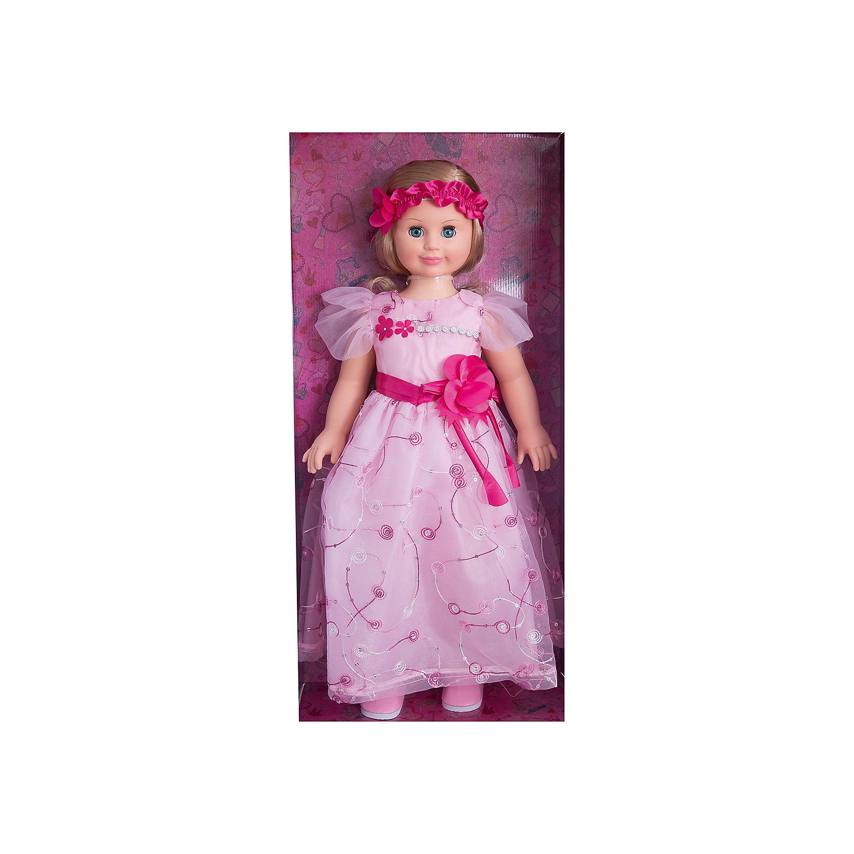 Кукла Милана 7, со звуком, 70 см, ВеснаИнтерактивные куклы<br>Очень красивая большая кукла от отечественного производителя способна не просто помочь ребенку весело проводить время, но и научить девочку одеваться со вкусом. На ней - нарядное платье и туфли, всё можно снимать и надевать. Это отличный подарок девочке!<br>Кукла произносит несколько фраз, механизм работает от батареек. Очень красиво смотрятся пышные волосы, на которых можно делать прически. Сделана игрушка из качественных и безопасных для ребенка материалов. Такая кукла поможет ребенку освоить механизмы социальных взаимодействий, развить моторику и воображение. Также куклы помогают девочкам научиться заботиться о других. <br><br>Дополнительная информация:<br><br>- материал: пластмасса;<br>- волосы: прошивные;<br>- открывающиеся глаза;<br>- звуковой модуль;<br>- снимающаяся одежда и обувь;<br>- высота: 70 см.<br><br>Комплектация:<br><br>- одежда;<br>- три батарейки СЦ 357.<br><br>Куклу Милана 7, со звуком, от марки Весна можно купить в нашем магазине.<br><br>Ширина мм: 380<br>Глубина мм: 170<br>Высота мм: 770<br>Вес г: 1428<br>Возраст от месяцев: 36<br>Возраст до месяцев: 1188<br>Пол: Женский<br>Возраст: Детский<br>SKU: 4701851