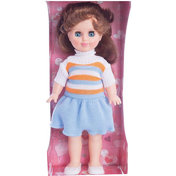 Кукла Иринка 6, 30см, ВеснаКуклы<br>Небольшая красивая кукла от отечественного производителя способна не просто помочь ребенку весело проводить время, но и научить девочку одеваться со вкусом. На ней - красивый летний наряд со шляпой и сумочкой, обувь, всё можно снимать и надевать.<br>Очень красиво смотрятся пышные волосы, на которых можно делать прически. Сделана игрушка из качественных и безопасных для ребенка материалов. Такая кукла поможет ребенку освоить механизмы социальных взаимодействий, развить моторику и воображение. Также куклы помогают девочкам научиться заботиться о других.<br><br>Дополнительная информация:<br><br>- материал: пластмасса;<br>- волосы: прошивные;<br>- снимающаяся одежда и обувь;<br>- высота: 30 см.<br><br>Куклу Иринка 6 от марки Весна можно купить в нашем магазине.<br><br>Ширина мм: 360<br>Глубина мм: 200<br>Высота мм: 300<br>Вес г: 2080<br>Возраст от месяцев: 36<br>Возраст до месяцев: 1188<br>Пол: Женский<br>Возраст: Детский<br>SKU: 4701852