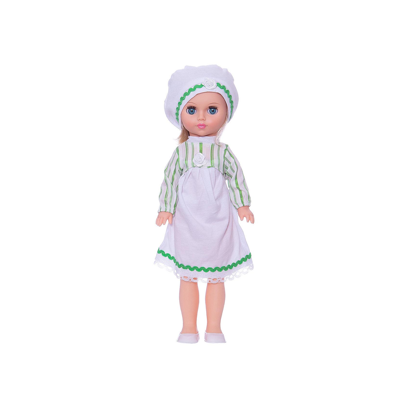 Кукла Мила 2, 40 см, ВеснаКлассические куклы<br>Качественная красивая кукла от отечественного производителя способна не просто помочь ребенку весело проводить время, но и научить девочку одеваться со вкусом. На ней - красивый летний наряд со шляпой и сумочкой, обувь, всё можно снимать и надевать.<br>Очень красиво смотрятся пышные волосы, на которых можно делать прически. Сделана игрушка из качественных и безопасных для ребенка материалов. Такая кукла поможет ребенку освоить механизмы социальных взаимодействий, развить моторику и воображение. Также куклы помогают девочкам научиться заботиться о других.<br><br>Дополнительная информация:<br><br>- материал: пластмасса;<br>- волосы: прошивные;<br>- снимающаяся одежда и обувь;<br>- высота: 40 см.<br><br>Куклу Мила 2 от марки Весна можно купить в нашем магазине.<br><br>Ширина мм: 490<br>Глубина мм: 210<br>Высота мм: 130<br>Вес г: 410<br>Возраст от месяцев: 36<br>Возраст до месяцев: 1188<br>Пол: Женский<br>Возраст: Детский<br>SKU: 4701853