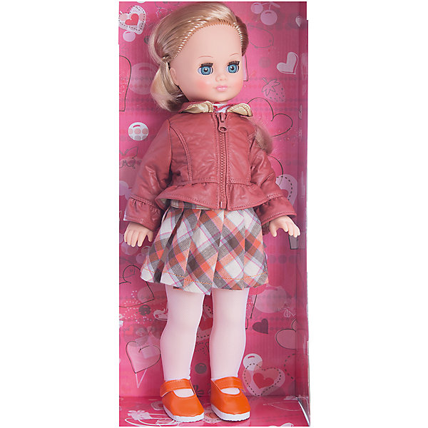Кукла Лиза 1, со звуком, 42 см, ВеснаБренды кукол<br>Красивая кукла от отечественного производителя способна не просто помочь ребенку весело проводить время, но и научить девочку одеваться со вкусом. На ней - красивый наряд с юбкой и курткой, обувь, всё можно снимать и надевать.<br>Кукла произносит несколько фраз, механизм работает от батареек. Очень красиво смотрятся пышные волосы, на которых можно делать прически. Сделана игрушка из качественных и безопасных для ребенка материалов. Такая кукла поможет ребенку освоить механизмы социальных взаимодействий, развить моторику и воображение. Также куклы помогают девочкам научиться заботиться о других.<br><br>Дополнительная информация:<br><br>- материал: пластмасса;<br>- волосы: прошивные;<br>- открывающиеся глаза;<br>- звуковой модуль;<br>- снимающаяся одежда и обувь;<br>- высота: 42 см.<br><br>Комплектация:<br><br>- одежда;<br>- три батарейки СЦ 357.<br><br>Куклу Лиза 1, со звуком, от марки Весна можно купить в нашем магазине.<br>Ширина мм: 210; Глубина мм: 130; Высота мм: 430; Вес г: 420; Возраст от месяцев: 36; Возраст до месяцев: 1188; Пол: Женский; Возраст: Детский; SKU: 4701856;
