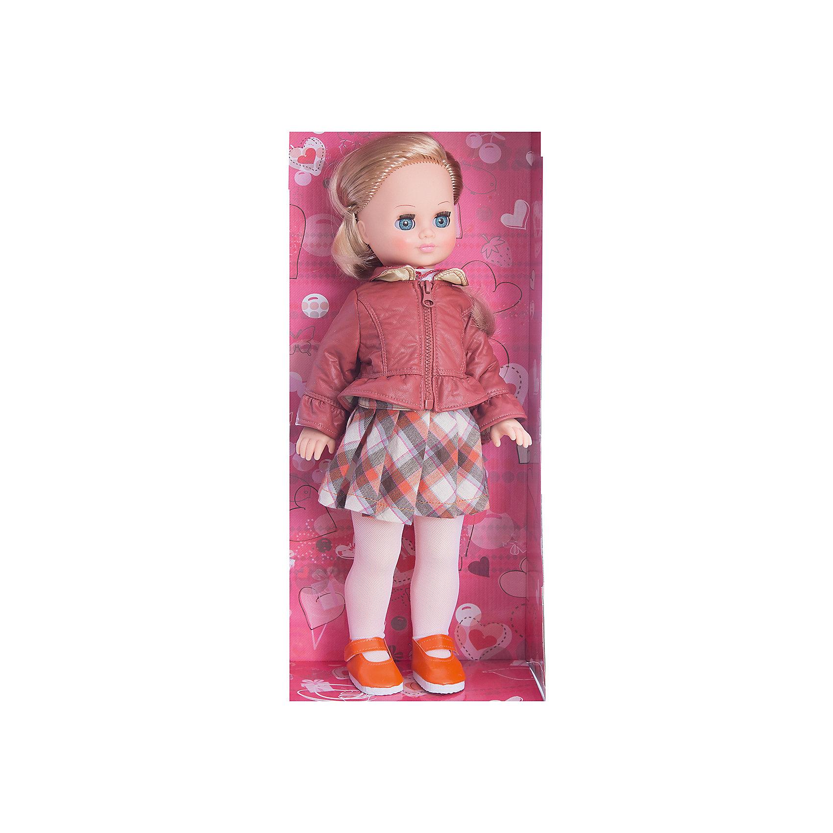 Кукла Лиза 1, со звуком, 42 см, ВеснаИнтерактивные куклы<br>Красивая кукла от отечественного производителя способна не просто помочь ребенку весело проводить время, но и научить девочку одеваться со вкусом. На ней - красивый наряд с юбкой и курткой, обувь, всё можно снимать и надевать.<br>Кукла произносит несколько фраз, механизм работает от батареек. Очень красиво смотрятся пышные волосы, на которых можно делать прически. Сделана игрушка из качественных и безопасных для ребенка материалов. Такая кукла поможет ребенку освоить механизмы социальных взаимодействий, развить моторику и воображение. Также куклы помогают девочкам научиться заботиться о других.<br><br>Дополнительная информация:<br><br>- материал: пластмасса;<br>- волосы: прошивные;<br>- открывающиеся глаза;<br>- звуковой модуль;<br>- снимающаяся одежда и обувь;<br>- высота: 42 см.<br><br>Комплектация:<br><br>- одежда;<br>- три батарейки СЦ 357.<br><br>Куклу Лиза 1, со звуком, от марки Весна можно купить в нашем магазине.<br><br>Ширина мм: 210<br>Глубина мм: 130<br>Высота мм: 430<br>Вес г: 420<br>Возраст от месяцев: 36<br>Возраст до месяцев: 1188<br>Пол: Женский<br>Возраст: Детский<br>SKU: 4701856