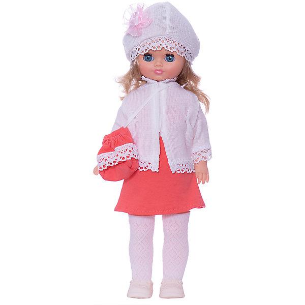 Кукла Лиза 22, со звуком, ВеснаКуклы<br>Красивая кукла от отечественного производителя способна не просто помочь ребенку весело проводить время, но и научить девочку одеваться со вкусом. На ней - красивый наряд с сумкой и шапочкой, обувь, всё можно снимать и надевать.<br>Кукла произносит несколько фраз, механизм работает от батареек. Очень красиво смотрятся пышные волосы, на которых можно делать прически. Сделана игрушка из качественных и безопасных для ребенка материалов. Такая кукла поможет ребенку освоить механизмы социальных взаимодействий, развить моторику и воображение. Также куклы помогают девочкам научиться заботиться о других.<br><br>Дополнительная информация:<br><br>- материал: пластмасса;<br>- волосы: прошивные;<br>- открывающиеся глаза;<br>- звуковой модуль;<br>- снимающаяся одежда и обувь;<br>- высота: 42 см.<br><br>Комплектация:<br><br>- одежда;<br>- три батарейки СЦ 357.<br><br>Куклу Лиза 22, со звуком, от марки Весна можно купить в нашем магазине.<br><br>Ширина мм: 420<br>Глубина мм: 240<br>Высота мм: 440<br>Вес г: 750<br>Возраст от месяцев: 36<br>Возраст до месяцев: 1188<br>Пол: Женский<br>Возраст: Детский<br>SKU: 4701857