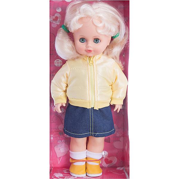 Кукла Инна 39, со звуком, 43 см, ВеснаБренды кукол<br>Модно одетая красивая кукла от отечественного производителя способна не просто помочь ребенку весело проводить время, но и научить девочку одеваться со вкусом. На ней - модный костюм, всё можно снимать и надевать.<br>Кукла произносит несколько фраз, механизм работает от батареек. Очень красиво смотрятся пышные волосы, на которых можно делать прически. Сделана игрушка из качественных и безопасных для ребенка материалов. Такая кукла поможет ребенку освоить механизмы социальных взаимодействий, развить моторику и воображение. Также куклы помогают девочкам научиться заботиться о других.<br><br>Дополнительная информация:<br><br>- материал: пластмасса;<br>- волосы: прошивные;<br>- открывающиеся глаза;<br>- звуковой модуль;<br>- снимающаяся одежда и обувь;<br>- высота: 43 см.<br><br>Комплектация:<br><br>- одежда;<br>- три батарейки СЦ 357.<br><br>Куклу Инна 39, со звуком, от марки Весна можно купить в нашем магазине.<br><br>Ширина мм: 210<br>Глубина мм: 130<br>Высота мм: 430<br>Вес г: 550<br>Возраст от месяцев: 36<br>Возраст до месяцев: 1188<br>Пол: Женский<br>Возраст: Детский<br>SKU: 4701860