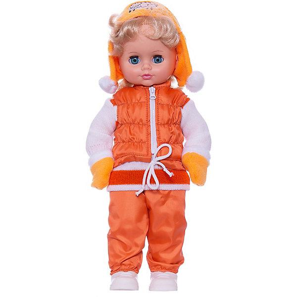 Кукла Инна 12, со звуком, ВеснаКуклы<br>Модно одетая красивая кукла от отечественного производителя способна не просто помочь ребенку весело проводить время, но и научить девочку одеваться со вкусом. На ней - модный костюм, всё можно снимать и надевать.<br>Кукла произносит несколько фраз, механизм работает от батареек. Очень красиво смотрятся пышные волосы, на которых можно делать прически. Сделана игрушка из качественных и безопасных для ребенка материалов. Такая кукла поможет ребенку освоить механизмы социальных взаимодействий, развить моторику и воображение. Также куклы помогают девочкам научиться заботиться о других.<br><br>Дополнительная информация:<br><br>- материал: пластмасса;<br>- волосы: прошивные;<br>- открывающиеся глаза;<br>- звуковой модуль;<br>- снимающаяся одежда и обувь;<br>- высота: 43 см.<br><br>Комплектация:<br><br>- одежда;<br>- три батарейки СЦ 357.<br><br>Куклу Инна 12, со звуком, от марки Весна можно купить в нашем магазине.<br>Ширина мм: 490; Глубина мм: 210; Высота мм: 130; Вес г: 550; Возраст от месяцев: 36; Возраст до месяцев: 1188; Пол: Женский; Возраст: Детский; SKU: 4701861;