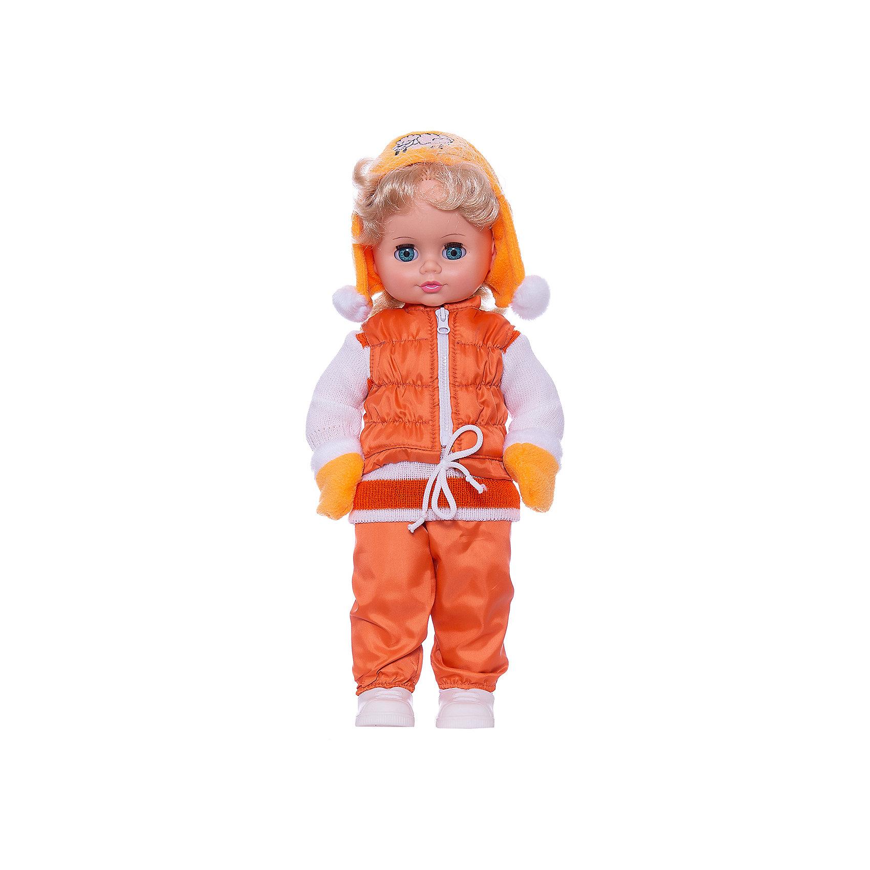 Кукла Инна 12, со звуком, ВеснаИнтерактивные куклы<br>Модно одетая красивая кукла от отечественного производителя способна не просто помочь ребенку весело проводить время, но и научить девочку одеваться со вкусом. На ней - модный костюм, всё можно снимать и надевать.<br>Кукла произносит несколько фраз, механизм работает от батареек. Очень красиво смотрятся пышные волосы, на которых можно делать прически. Сделана игрушка из качественных и безопасных для ребенка материалов. Такая кукла поможет ребенку освоить механизмы социальных взаимодействий, развить моторику и воображение. Также куклы помогают девочкам научиться заботиться о других.<br><br>Дополнительная информация:<br><br>- материал: пластмасса;<br>- волосы: прошивные;<br>- открывающиеся глаза;<br>- звуковой модуль;<br>- снимающаяся одежда и обувь;<br>- высота: 43 см.<br><br>Комплектация:<br><br>- одежда;<br>- три батарейки СЦ 357.<br><br>Куклу Инна 12, со звуком, от марки Весна можно купить в нашем магазине.<br><br>Ширина мм: 490<br>Глубина мм: 210<br>Высота мм: 130<br>Вес г: 550<br>Возраст от месяцев: 36<br>Возраст до месяцев: 1188<br>Пол: Женский<br>Возраст: Детский<br>SKU: 4701861