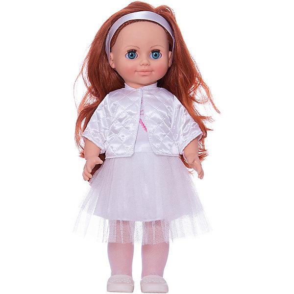 Кукла Анна 7, со звуком, ВеснаКуклы<br>Нарядно одетая качественная кукла от отечественного производителя способна не просто помочь ребенку весело проводить время, но и научить девочку одеваться со вкусом. На ней - нарядное платье, курточка, обувь, всё можно снимать и надевать.<br>Кукла произносит несколько фраз, механизм работает от батареек. Очень красиво смотрятся пышные волосы, на которых можно делать прически. Сделана игрушка из качественных и безопасных для ребенка материалов. Такая кукла поможет ребенку освоить механизмы социальных взаимодействий, развить моторику и воображение. Также куклы помогают девочкам научиться заботиться о других.<br><br>Дополнительная информация:<br><br>- материал: пластмасса;<br>- волосы: прошивные;<br>- открывающиеся глаза;<br>- звуковой модуль;<br>- снимающаяся одежда и обувь;<br>- высота: 42 см.<br><br>Комплектация:<br><br>- одежда;<br>- три батарейки СЦ 357.<br><br>Куклу Анна 7, со звуком, от марки Весна можно купить в нашем магазине.<br>Ширина мм: 490; Глубина мм: 210; Высота мм: 130; Вес г: 550; Возраст от месяцев: 36; Возраст до месяцев: 1188; Пол: Женский; Возраст: Детский; SKU: 4701864;