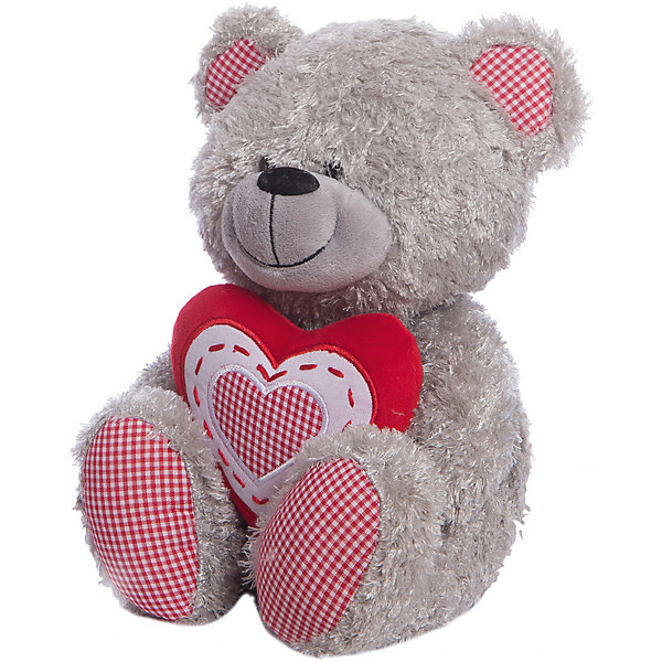 Медведь с красным сердцем, музыкальный, 22 см, LAVAМузыкальные мягкие игрушки<br>Очаровательная мягкая игрушка сделана в виде серого медвежонка с сердечком в руках. Она поможет ребенку проводить время весело и с пользой (такие игрушки развивают воображение и моторику). В игрушке есть встроенный звуковой модуль, работающий на батарейках.<br>Размер игрушки универсален - 22 сантиметра, её удобно брать с собой в поездки и на прогулку. Сделан Медвежонок из качественных и безопасных для ребенка материалов, которые еще и приятны на ощупь. Эта игрушка может стать и отличным подарком для взрослого.<br><br>Дополнительная информация:<br><br>- материал: текстиль, пластик;<br>- звуковой модуль;<br>- язык: русский;<br>- работает на батарейках;<br>- высота: 22 см.<br><br>Игрушку Медведь с красным сердцем, музыкальный, 22 см, от марки LAVA можно купить в нашем магазине.<br>Ширина мм: 230; Глубина мм: 120; Высота мм: 120; Вес г: 165; Возраст от месяцев: 36; Возраст до месяцев: 1188; Пол: Унисекс; Возраст: Детский; SKU: 4701865;