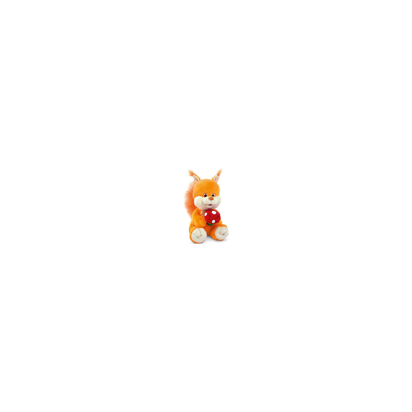 Белка, музыкальная, 19,5 см, LAVAЗвери и птицы<br>Симпатичная мягкая игрушка сделана в виде Белки с грибом в лапках. Она поможет ребенку проводить время весело и с пользой (такие игрушки развивают воображение и моторику). В игрушке есть встроенный звуковой модуль, работающий на батарейках.<br>Размер игрушки универсален - 19,5 сантиметров, её удобно брать с собой в поездки и на прогулку. Сделана Белка из качественных и безопасных для ребенка материалов, которые еще и приятны на ощупь. Эта игрушка может стать и отличным подарком для взрослого.<br><br>Дополнительная информация:<br><br>- материал: текстиль, пластик;<br>- звуковой модуль;<br>- язык: русский;<br>- работает на батарейках;<br>- высота: 19,5 см.<br><br>Игрушку Белка, музыкальная, 19,5 см, от марки LAVA можно купить в нашем магазине.<br><br>Ширина мм: 9999<br>Глубина мм: 9999<br>Высота мм: 195<br>Вес г: 197<br>Возраст от месяцев: 36<br>Возраст до месяцев: 1188<br>Пол: Унисекс<br>Возраст: Детский<br>SKU: 4701870