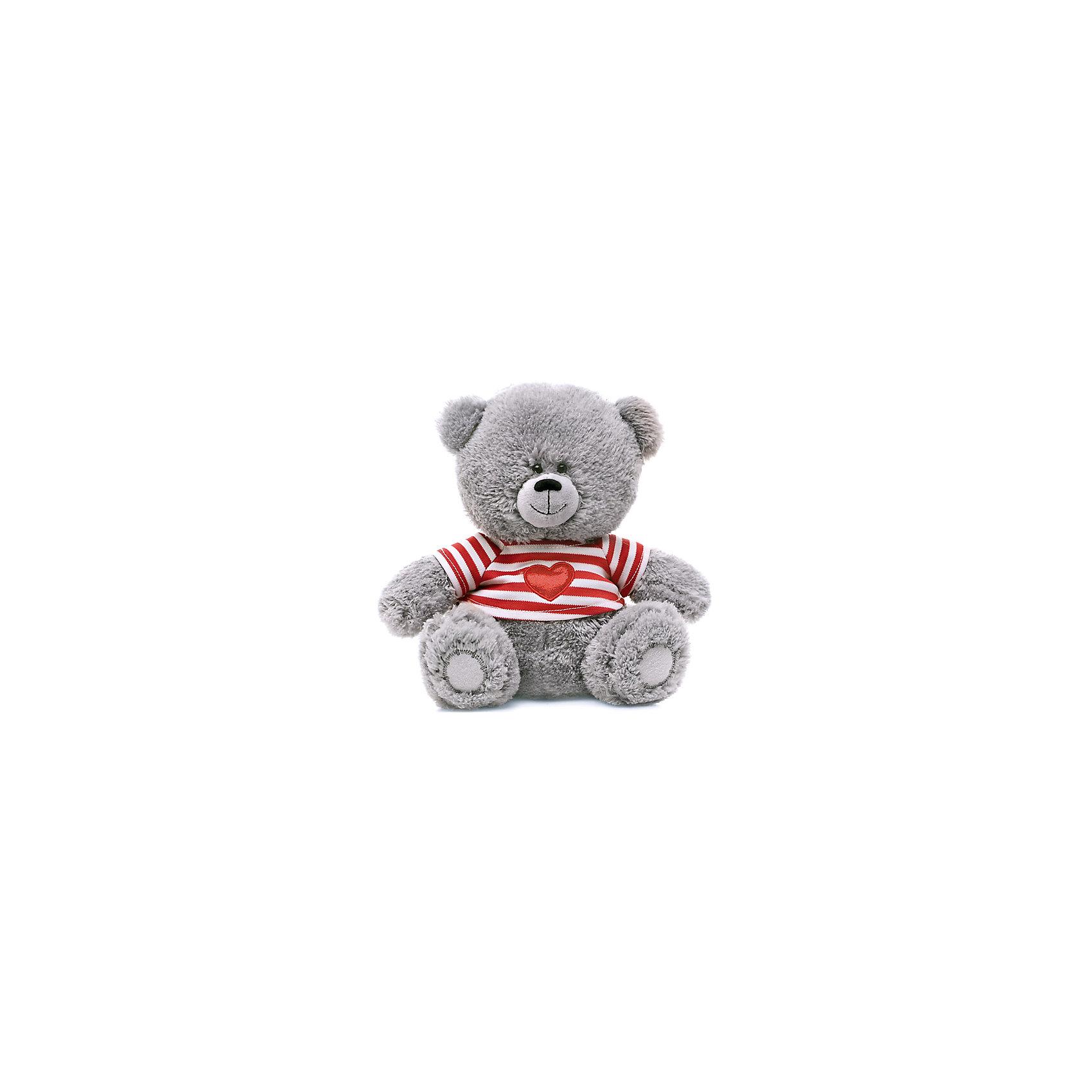 Медвежонок в полосатой футболке, музыкальный, 21 см, LAVA
