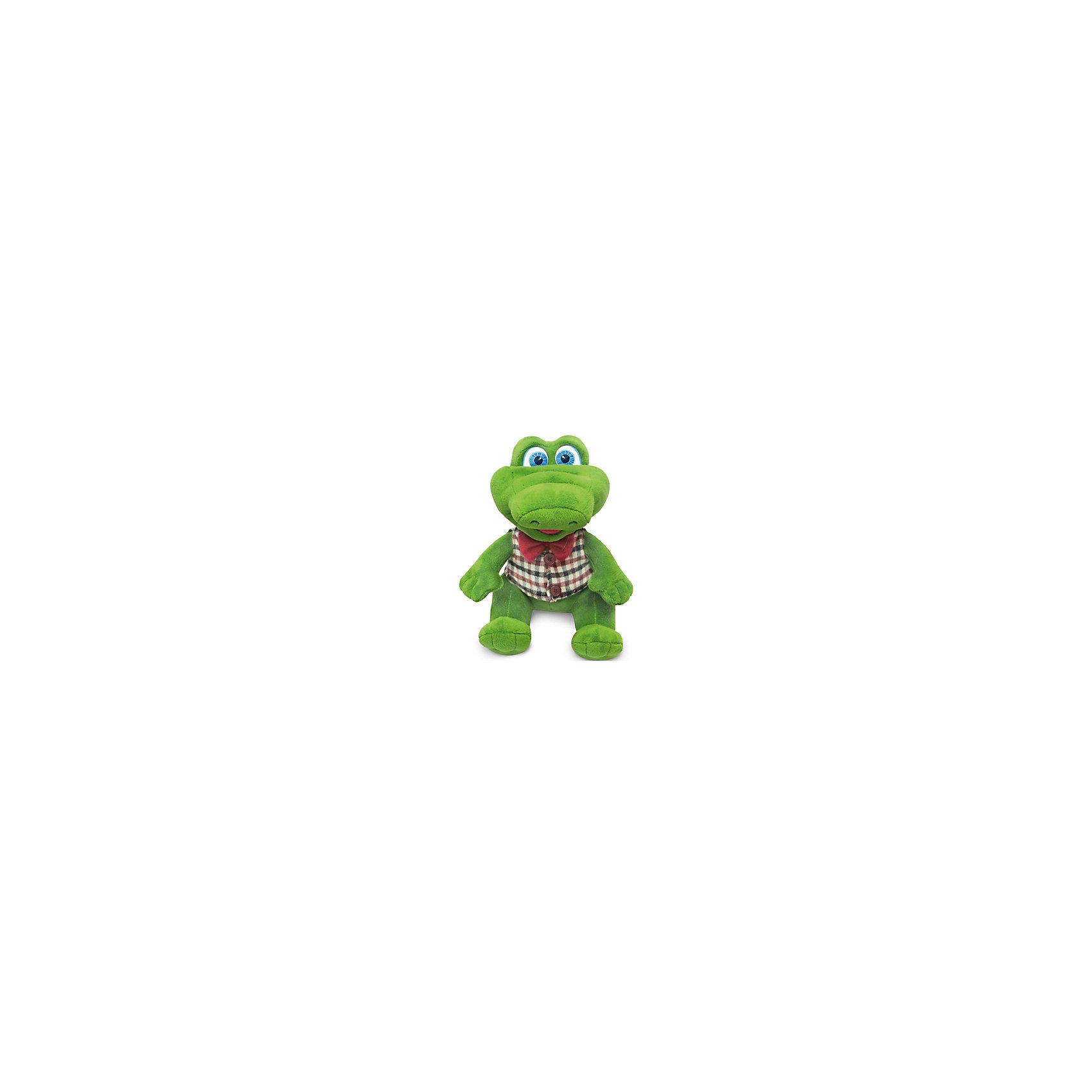 Крокодил в жилетке с бантиком, музыкальный, 19 см, LAVAОчаровательная мягкая игрушка сделана в виде Крокодила в жилете и бабочке. Она поможет ребенку проводить время весело и с пользой (такие игрушки развивают воображение и моторику). В игрушке есть встроенный звуковой модуль, работающий на батарейках.<br>Размер игрушки универсален - 19 сантиметров, её удобно брать с собой в поездки и на прогулку. Сделан Крокодил из качественных и безопасных для ребенка материалов, которые еще и приятны на ощупь. Эта игрушка может стать и отличным подарком для взрослого.<br><br>Дополнительная информация:<br><br>- материал: текстиль, пластик;<br>- звуковой модуль;<br>- язык: русский;<br>- работает на батарейках;<br>- высота: 19 см.<br><br>Игрушку Крокодил в жилетке с бантиком, музыкальный, 19 см, от марки LAVA можно купить в нашем магазине.<br><br>Ширина мм: 9999<br>Глубина мм: 9999<br>Высота мм: 190<br>Вес г: 144<br>Возраст от месяцев: 36<br>Возраст до месяцев: 1188<br>Пол: Унисекс<br>Возраст: Детский<br>SKU: 4701887