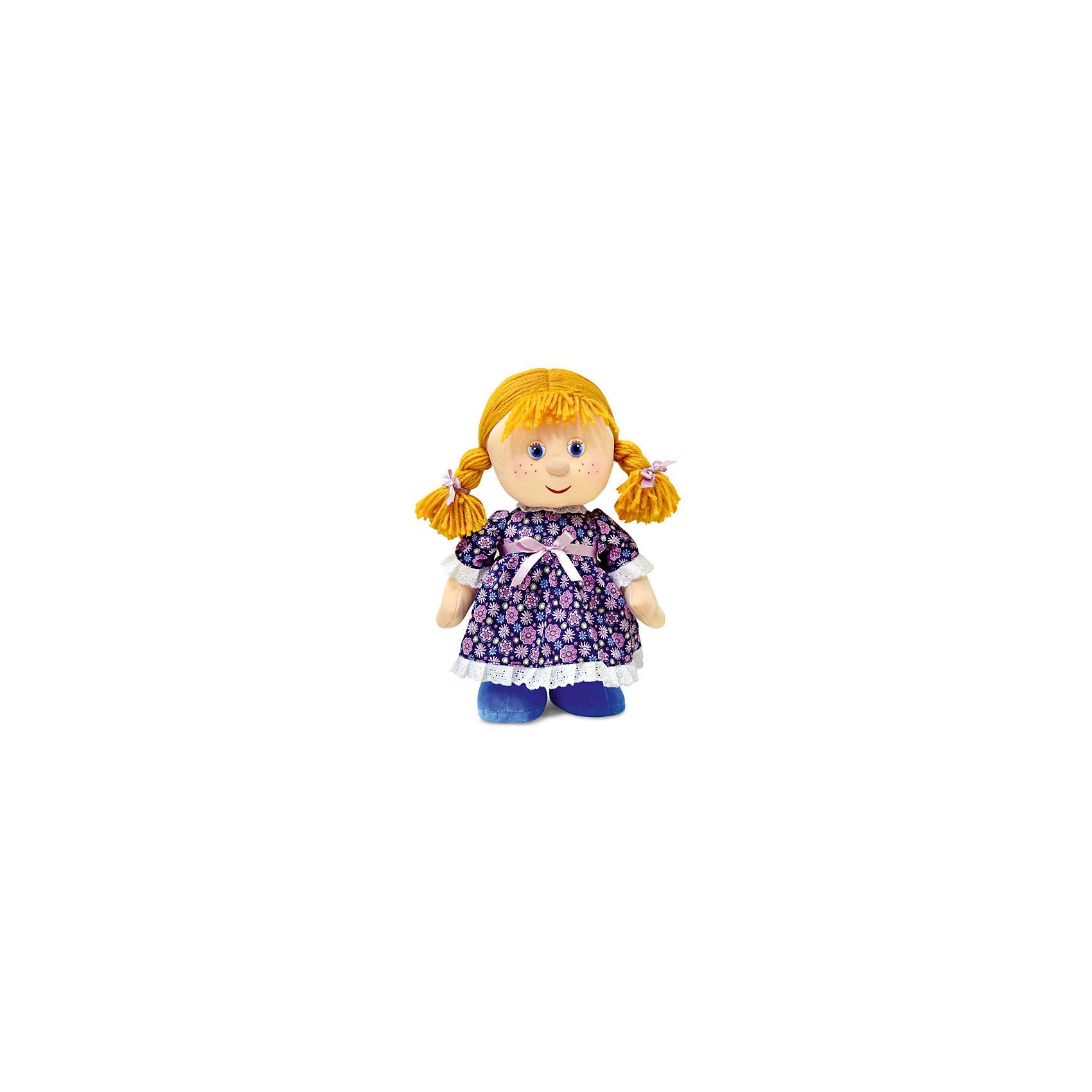 Куколка танцующая, музыкальная, LAVAОчаровательная мягкая игрушка сделана в виде куклы  с рыжими косичками. Она поможет ребенку проводить время весело и с пользой (такие игрушки развивают воображение и моторику). В игрушке есть встроенный звуковой модуль, работающий на батарейках.<br>Размер игрушки небольшой, он универсален, её удобно брать с собой в поездки и на прогулку. Сделана кукла из качественных и безопасных для ребенка материалов, которые еще и приятны на ощупь. Эта игрушка может стать и отличным подарком для взрослого.<br><br>Дополнительная информация:<br><br>- материал: текстиль, пластик;<br>- звуковой модуль;<br>- язык: русский;<br>- работает на батарейках.<br><br>Игрушку Куколка танцующая, музыкальная, от марки LAVA можно купить в нашем магазине.<br><br>Ширина мм: 9999<br>Глубина мм: 9999<br>Высота мм: 310<br>Вес г: 538<br>Возраст от месяцев: 36<br>Возраст до месяцев: 1188<br>Пол: Унисекс<br>Возраст: Детский<br>SKU: 4701889