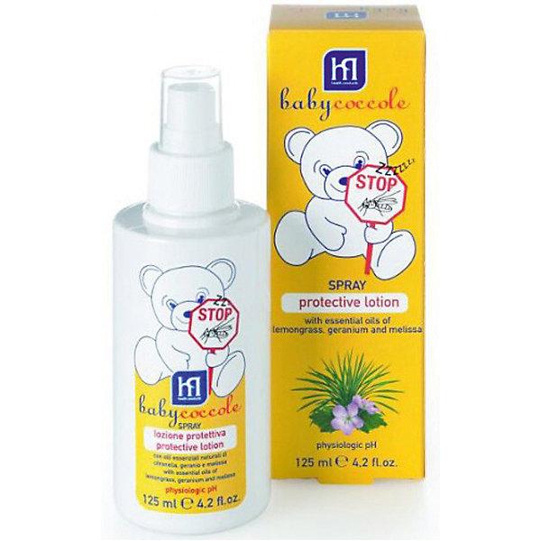 Защитный лосьон от комаров  125мл, BabycoccoleКосметика для малыша<br>Защитный лосьон от комаров  125мл, Babycoccole (Бэбикоколле) – идеально подходит для защиты новорожденных от комаров.<br>Защитный лосьон от комаров от Babycoccole (Бэбикоколле) разработан для защиты нежной кожи новорожденных от укусов насекомых. Благодаря активным натуральным компонентам, таким как эфирные масла мелиссы, лимонника и герани, ни один комар не оставит следа на коже малыша. Лосьон-спрей гипоаллергенен, обладает физиологическим уровнем pH. Он приятно пахнет и не оставляет жирных следов.<br><br>Дополнительная информация:<br><br>- Объем: 125 мл.<br>- Основные ингредиенты: эфирные масла мелиссы, лимонника и герани<br>- Не содержит SLS/SLES<br><br>Защитный лосьон от комаров  125мл, Babycoccole (Бэбикоколле) можно купить в нашем интернет-магазине.<br><br>Ширина мм: 50<br>Глубина мм: 50<br>Высота мм: 150<br>Вес г: 220<br>Возраст от месяцев: 0<br>Возраст до месяцев: 36<br>Пол: Унисекс<br>Возраст: Детский<br>SKU: 4701907