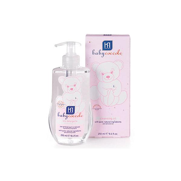 Масло очищающее 250мл, BabycoccoleКосметика для малыша<br>Масло очищающее 250мл, Babycoccole (Бэбикоколле) – эффективно смягчает чувствительную кожу малыша и повышает ее эластичность.<br>Очищающее масло Babycoccole с чистыми натуральными ингредиентами и протеинами миндаля нежно очищает, освежает кожу новорожденных и маленьких детей. Предотвращает появление покраснений и раздражений, борется с себорейными корочками, предотвращает высушивание кожи ребенка. Легко впитывается не оставляет жирных следов. Гипоаллергенно, обладает физиологическим уровнем pH. Babyсoccole (Бэбикоколле) включает все линии косметики, необходимые для ухода за кожей новорожденных. Косметика Babycoccole (Бэбикоколле) – это чистые и натуральные решения, созданные самой природой, потому что они основаны на использовании лучших и наиболее эффективных свойств компонентов растений. Косметика создана в результате глубоких исследований, для ухода за нежной кожей новорожденных и маленьких детей. Разработана и произведена в лаборатории Betafarma, Италия. Клинически протестирована, соответствует Европейской директиве 2003/15/СЕЕ, которая регулирует вопрос о недопустимости в содержании аллергических веществ. Для косметических средств характерен легкий мягкий запах мускуса с цитрусовой ноткой, который так подходит и нравится детям.<br><br>Дополнительная информация:<br><br>- Объем: 250 мл.<br>- Не содержит потенциально агрессивных ПАВ, таких как лаурилсульфаты (SLES-SLS)<br>- Максимально снижен риск развития аллергических реакций благодаря оптимально сбалансированному составу, а также использованию испытанных традиционных компонентов растительного происхождения<br>- Отсутствие консервантов в синергической (взаимодополняющей) смеси активных ингредиентов гарантирует высокую микробиологическую безопасность продукции<br>- Отсутствуют компоненты животного происхождения, способные вызвать развитие аллергии<br>- Не содержит спирта<br>- Применение:  желательно наносить на влажную кожу после купания при помощи ватного