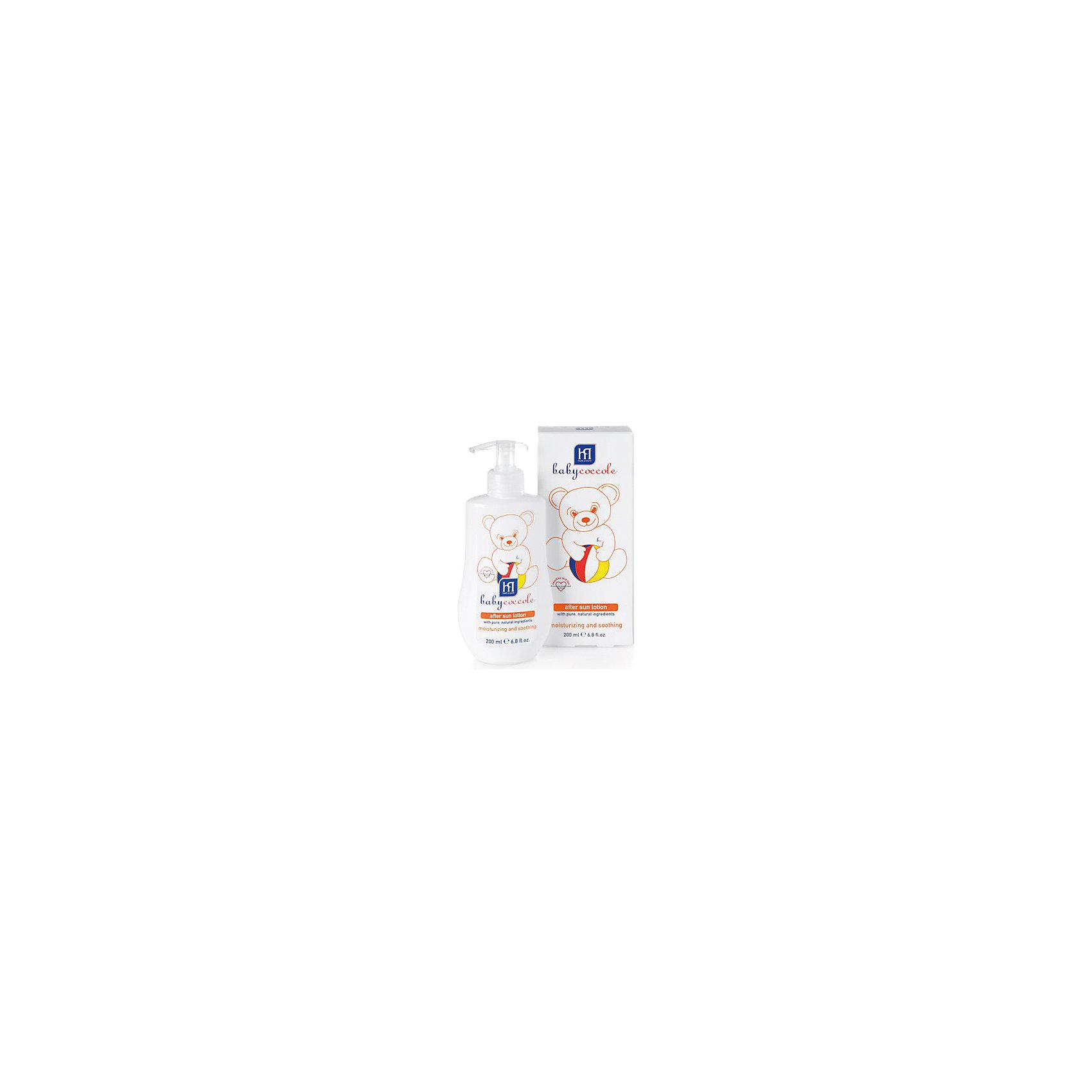 Молочко мягкое после загара 200мл, BabycoccoleМолочко мягкое после загара 200мл, Babycoccole (Бэбикоколле) – для детской кожи, подвергающейся воздействию солнечных лучей. <br>Мягкое молочко после загара с питательным и успокаивающим эффектом нежно заботится о детской коже. Оно увлажняет и смягчает, благодаря чистым натуральным компонентам, таким как бисаболол ромашки и протеины миндаля. Гипоаллергенно, обладает физиологическим уровнем pH. Без парфюмерных добавок, не содержит спирта, без красителей. Babyсoccole (Бэбикоколле) включает все линии косметики, необходимые для ухода за кожей новорожденных. Косметика Babycoccole (Бэбикоколле) – это чистые и натуральные решения, созданные самой природой, потому что они основаны на использовании лучших и наиболее эффективных свойств компонентов растений. Косметика создана в результате глубоких исследований, для ухода за нежной кожей новорожденных и маленьких детей. Разработана и произведена в лаборатории Betafarma, Италия. Клинически протестирована, соответствует Европейской директиве 2003/15/СЕЕ, которая регулирует вопрос о недопустимости в содержании аллергических веществ. Для косметических средств характерен легкий мягкий запах мускуса с цитрусовой ноткой, который так подходит и нравится детям.<br><br>Дополнительная информация:<br><br>- Объем: 200 мл.<br>- Специально разработано для детей с самого рождения<br>- Не содержит потенциально агрессивных ПАВ, таких как лаурилсульфаты (SLES-SLS)<br>- Максимально снижен риск развития аллергических реакций благодаря оптимально сбалансированному составу, а также использованию испытанных традиционных компонентов растительного происхождения<br>- Используется только экологически чистое сырьё, прошедшее строгий лабораторный контроль<br>- Отсутствие консервантов в синергической (взаимодополняющей) смеси активных ингредиентов гарантирует высокую микробиологическую безопасность продукции<br>- Отсутствуют компоненты животного происхождения, способные вызвать развитие аллергии<br>- Применение: