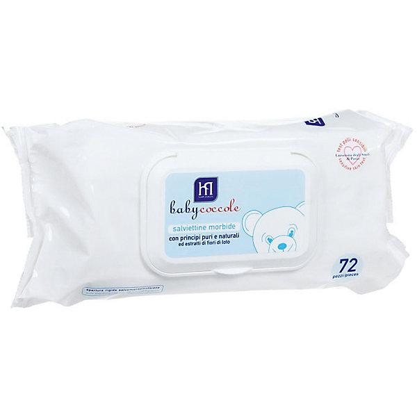 Салфетки очищающие 72 шт., BabycoccoleВлажные салфетки<br>Салфетки очищающие 72 шт., Babycoccole (Бэбикоколле) - мягкие нетканые салфетки, созданные для заботливого ухода за нежной кожей.<br>Очищающие салфетки Babycoccole (Бэбикоколле) изготовлены из мягкого нетканого материала и для очищения кожи новорожденных и маленьких детей. Они обладают смягчающими и увлажняющими свойствами благодаря чистым и натуральным ингредиентам, таким как бетаглюкан овса и экстракт из цветов лотоса. Необходимы при повседневном использовании, особенно незаменимы при смене подгузника в условиях отсутствия воды и мыла, а также на прогулке, в поликлинике, в гостях. Салфетки гипоаллергенны, обладают физиологическим уровнем pH. Косметика Babycoccole (Бэбикоколле) для ухода за кожей новорожденных – это чистые и натуральные решения, созданные самой природой, потому что они основаны на использовании лучших и наиболее эффективных свойств компонентов растений. Разработана и произведена в лаборатории Betafarma, Италия. Клинически протестирована, соответствует Европейской директиве 2003/15/СЕЕ, которая регулирует вопрос о недопустимости в содержании аллергических веществ. Для косметических средств характерен легкий мягкий запах мускуса с цитрусовой ноткой, который так подходит и нравится детям.<br><br>Дополнительная информация:<br><br>- Количество: 72 шт.<br>- Не содержат спирта, не сушат кожу<br>- Удобная упаковка снабжена крышкой, которая позволяет многократно открывать и закрывать упаковку, сохраняя при этом все свойства салфеток<br><br>Салфетки очищающие 72 шт., Babycoccole (Бэбикоколле) можно купить в нашем интернет-магазине.<br>Ширина мм: 100; Глубина мм: 190; Высота мм: 50; Вес г: 620; Возраст от месяцев: 0; Возраст до месяцев: 36; Пол: Унисекс; Возраст: Детский; SKU: 4701923;