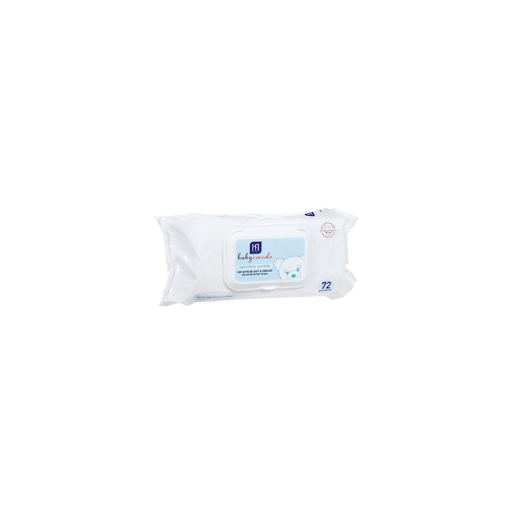 Салфетки очищающие 72 шт., BabycoccoleВлажные салфетки<br>Салфетки очищающие 72 шт., Babycoccole (Бэбикоколле) - мягкие нетканые салфетки, созданные для заботливого ухода за нежной кожей.<br>Очищающие салфетки Babycoccole (Бэбикоколле) изготовлены из мягкого нетканого материала и для очищения кожи новорожденных и маленьких детей. Они обладают смягчающими и увлажняющими свойствами благодаря чистым и натуральным ингредиентам, таким как бетаглюкан овса и экстракт из цветов лотоса. Необходимы при повседневном использовании, особенно незаменимы при смене подгузника в условиях отсутствия воды и мыла, а также на прогулке, в поликлинике, в гостях. Салфетки гипоаллергенны, обладают физиологическим уровнем pH. Косметика Babycoccole (Бэбикоколле) для ухода за кожей новорожденных – это чистые и натуральные решения, созданные самой природой, потому что они основаны на использовании лучших и наиболее эффективных свойств компонентов растений. Разработана и произведена в лаборатории Betafarma, Италия. Клинически протестирована, соответствует Европейской директиве 2003/15/СЕЕ, которая регулирует вопрос о недопустимости в содержании аллергических веществ. Для косметических средств характерен легкий мягкий запах мускуса с цитрусовой ноткой, который так подходит и нравится детям.<br><br>Дополнительная информация:<br><br>- Количество: 72 шт.<br>- Не содержат спирта, не сушат кожу<br>- Удобная упаковка снабжена крышкой, которая позволяет многократно открывать и закрывать упаковку, сохраняя при этом все свойства салфеток<br><br>Салфетки очищающие 72 шт., Babycoccole (Бэбикоколле) можно купить в нашем интернет-магазине.<br><br>Ширина мм: 100<br>Глубина мм: 190<br>Высота мм: 50<br>Вес г: 620<br>Возраст от месяцев: 0<br>Возраст до месяцев: 36<br>Пол: Унисекс<br>Возраст: Детский<br>SKU: 4701923