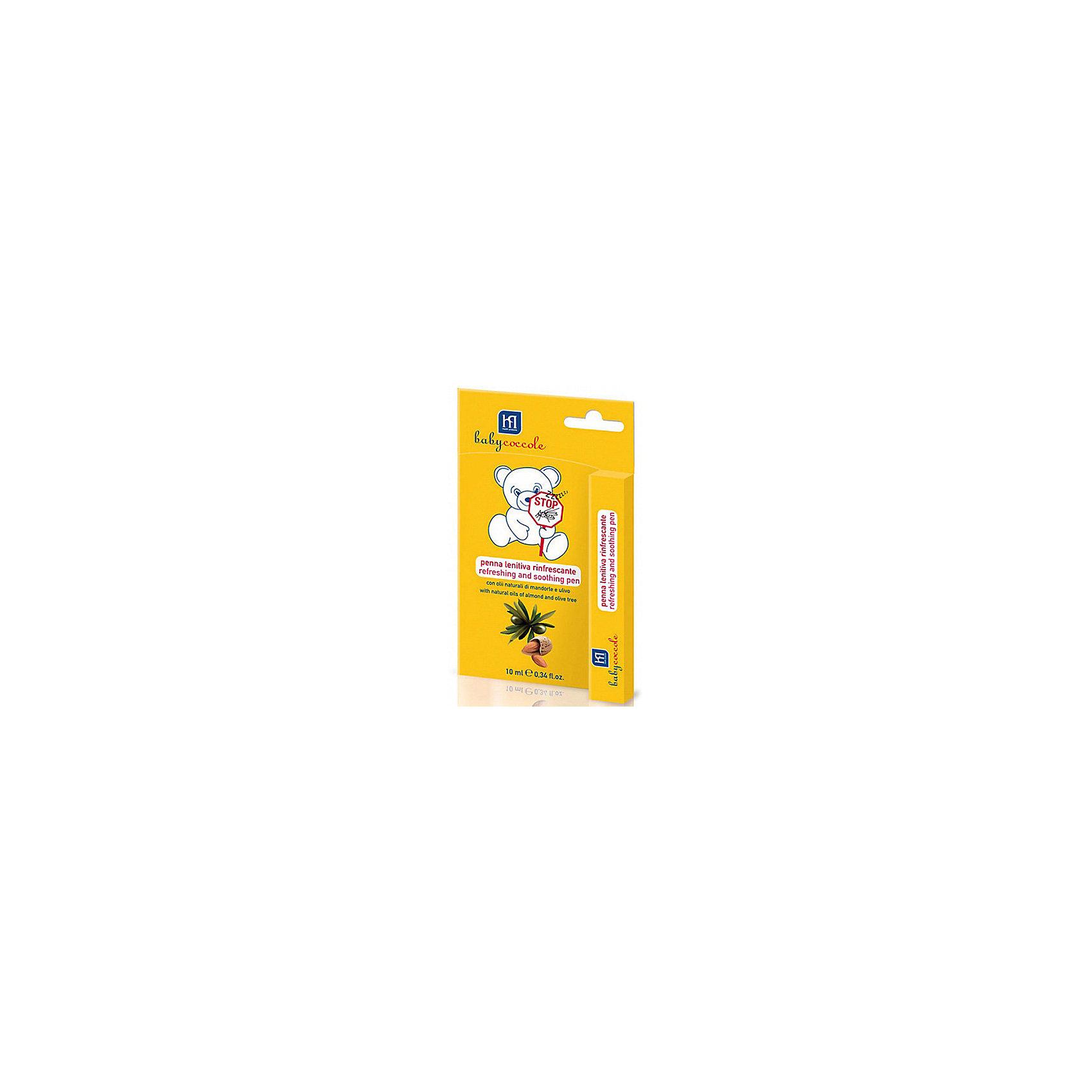 Успокаивающий и освежающий карандаш от комаров 10мл, BabycoccoleУспокаивающий и освежающий карандаш от комаров 10мл, Babycoccole (Бэбикоколле) – помогает снять зуд и раздражения.<br>Успокаивающий и освежающий карандаш от комаров Babycoccole (Бэбикоколле) сделает последствия укусов комаров и других насекомых менее болезненными. Подходит для новорожденных с первого дня жизни. В состав средства входят миндаль и олива, которые известны своими противовоспалительными и успокаивающими свойствами. Карандаш освежает кожу, смягчает ее и снимает покраснения. Поскольку карандаш изготовлен из натуральных компонентов, то он не вызывает аллергических реакций и подходят для чувствительной кожи. Обладает физиологическим уровнем рН.<br><br>Дополнительная информация:<br><br>- Объем: 10 мл.<br>- Не содержит SLS/SLES<br>- Не содержит красителей<br>- Клинически протестирован<br>- Способ применения: небольшое количество средства необходимо нанести на место укуса, при необходимости через время повторить<br><br>Успокаивающий и освежающий карандаш от комаров 10мл, Babycoccole (Бэбикоколле) можно купить в нашем интернет-магазине.<br><br>Ширина мм: 20<br>Глубина мм: 100<br>Высота мм: 160<br>Вес г: 50<br>Возраст от месяцев: 0<br>Возраст до месяцев: 36<br>Пол: Унисекс<br>Возраст: Детский<br>SKU: 4701924