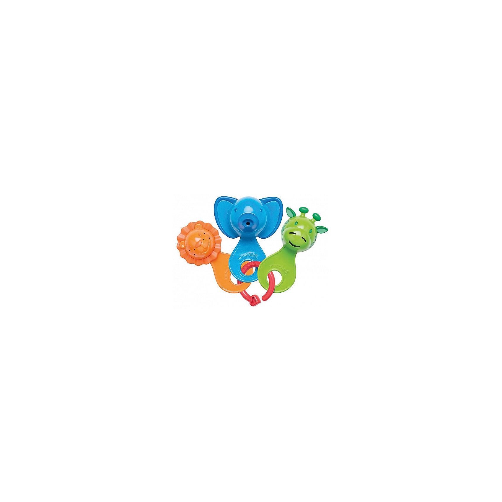 Игрушка для ванны Весёлые ситечки 6+, MunchkinИгрушки для ванны<br>Игрушка для ванны Весёлые ситечки 6+, Munchkin (Манчкин) - непременно понравится вашему малышу и превратит купание в веселую игру!<br>Набор разноцветных игрушек-ситечек развлечет ребенка во время купания и познакомит с окружающим его миром. Ребенок с удовольствием будет зачерпывать и просеивать водичку, наблюдая, как она вытекает из разноцветных мордочек разных размеров и форм. Каждое ситечко имеет уникальный рисунок и мягкие края для удобства хватания. Развивает мелкую моторику рук. Миссия Munchkin (Манчкин), американской компании с 20-летней историей: избавить мир от надоевших и прозаических товаров, искать умные инновационные решения, которые превращает обыденные задачи в опыт, приносящий удовольствие. Понимая, что наибольшее значение в быту имеют именно мелочи, компания создает уникальные товары, которые помогают поддерживать порядок, организовывать пространство, облегчают уход за детьми – недаром компания имеет уже более 140 патентов и изобретений, используемых в создании ее неповторимой и оригинальной продукции. Munchkin (Манчкин) делает жизнь родителей легче!<br><br>Дополнительная информация:<br><br>- Для детей с 6 месяцев<br>- В наборе: три разноцветных ситечек-животных, соединенных на пластиковое кольцо<br>- Материал: пластмасса<br>- Длина ситечек: 11 см.<br>- Размер упаковки: 20х18х6 см.<br>- Вес: 100 гр.<br><br>Игрушку для ванны Весёлые ситечки 6+, Munchkin (Манчкин) можно купить в нашем интернет-магазине.<br><br>Ширина мм: 200<br>Глубина мм: 180<br>Высота мм: 60<br>Вес г: 100<br>Возраст от месяцев: 6<br>Возраст до месяцев: 36<br>Пол: Унисекс<br>Возраст: Детский<br>SKU: 4701927