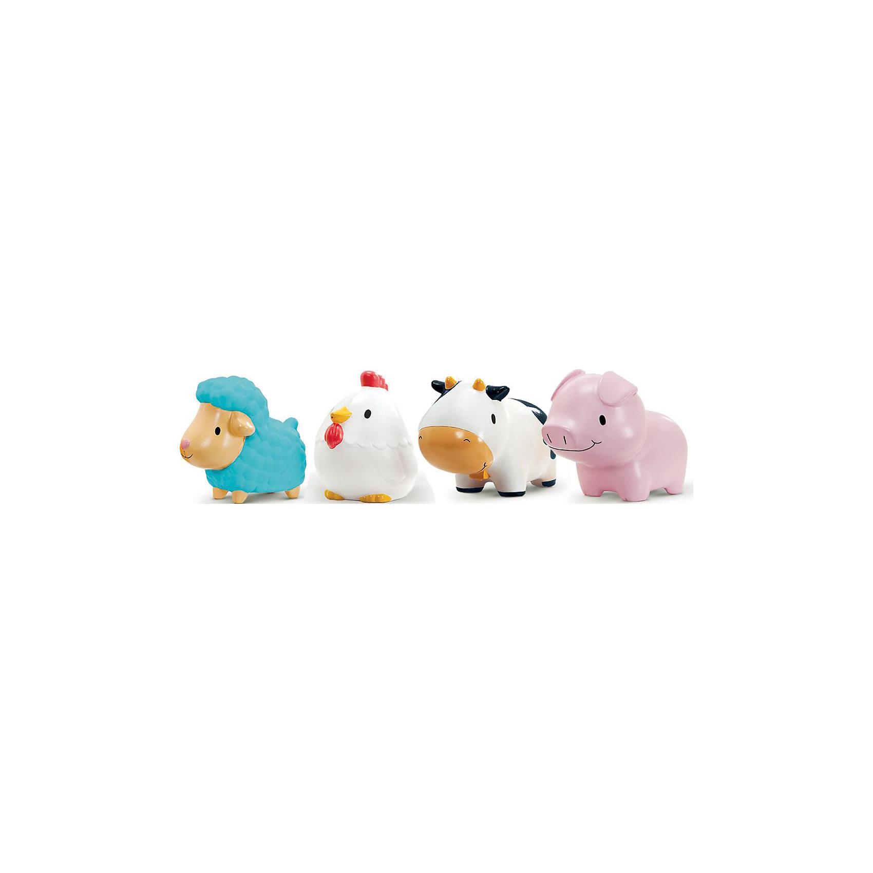 munchkin Игрушка для ванны деревенские зверюшки 9+ 4шт, Munchkin игрушки для ванны munchkin игрушка для ванны деревенские зверюшки