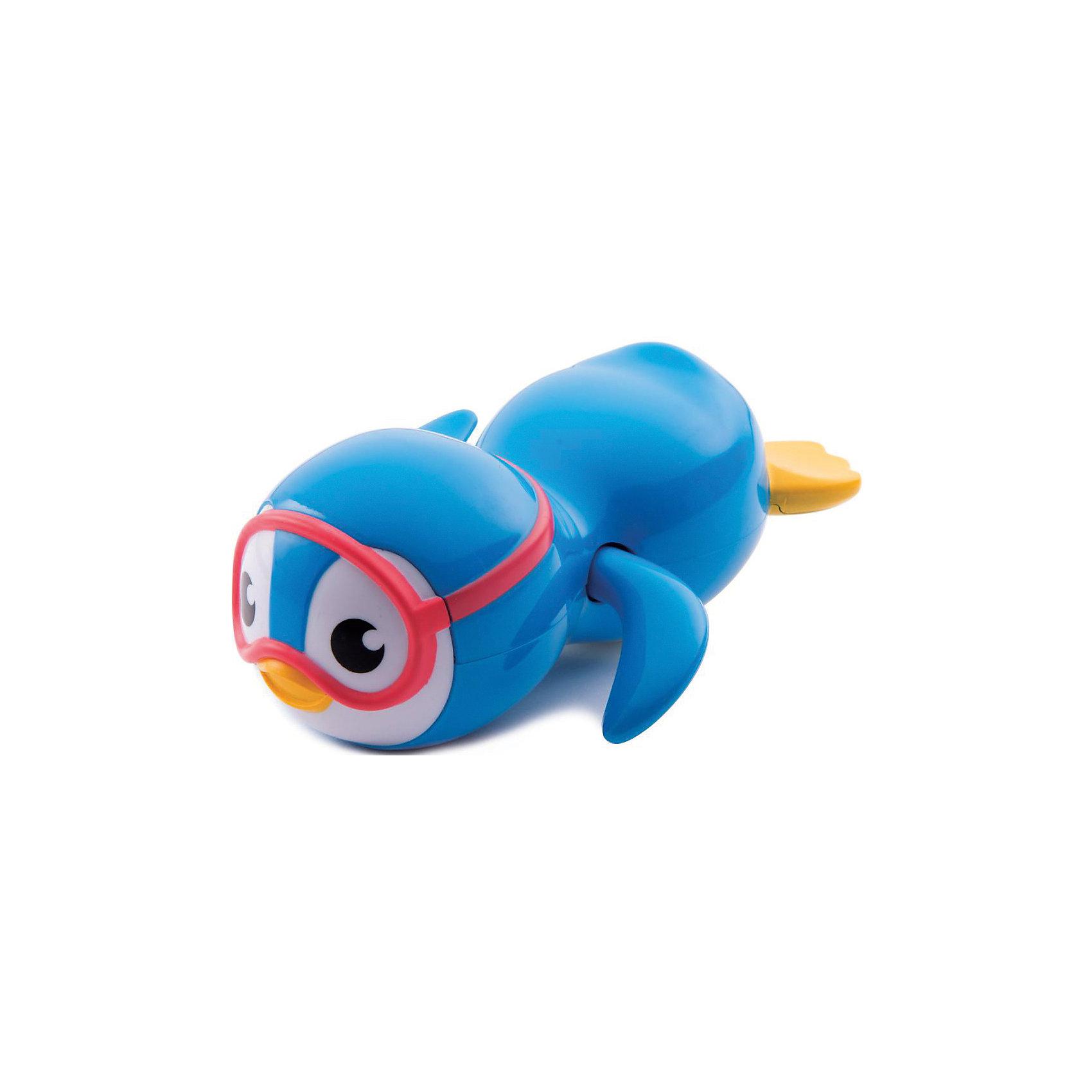 Игрушка для ванны Пингвин пловец 9+, MunchkinИгрушки для ванны<br>Игрушка для ванны Пингвин пловец 9+, Munchkin (Манчкин) - непременно понравится вашему малышу и превратит купание в веселую игру!<br>С игрушкой для ванны Пингвин-пловец от Munchkin (Манчкин) купание будет доставлять только удовольствие. Если завести механизм игрушки, она начнет забавно перебирать плавниками, плавая по пространству ванной - веселье во время купания гарантировано. Запустите этого очаровательного пингвинчика в ванну и наблюдайте, как стремительный пловец рассекает в воде! Игрушка развивает координацию движений, тактильное восприятие и доставляет массу положительных эмоций. Миссия Munchkin (Манчкин), американской компании с 20-летней историей: избавить мир от надоевших и прозаических товаров, искать умные инновационные решения, которые превращает обыденные задачи в опыт, приносящий удовольствие. Понимая, что наибольшее значение в быту имеют именно мелочи, компания создает уникальные товары, которые помогают поддерживать порядок, организовывать пространство, облегчают уход за детьми – недаром компания имеет уже более 140 патентов и изобретений, используемых в создании ее неповторимой и оригинальной продукции. Munchkin (Манчкин) делает жизнь родителей легче!<br><br>Дополнительная информация:<br><br>- Для детей с 9 месяцев<br>- Материал: пластмасса<br>- Размер упаковки: 13х13х10 см.<br>- Вес: 100 гр.<br><br>Игрушку для ванны Пингвин пловец 9+, Munchkin (Манчкин) можно купить в нашем интернет-магазине.<br><br>Ширина мм: 130<br>Глубина мм: 130<br>Высота мм: 100<br>Вес г: 100<br>Возраст от месяцев: 9<br>Возраст до месяцев: 36<br>Пол: Унисекс<br>Возраст: Детский<br>SKU: 4701929