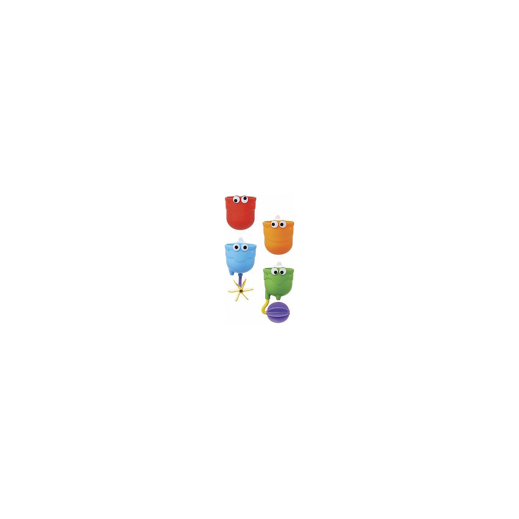 Игрушки для ванны Водопад 12+, MunchkinИгрушки для ванны<br>Игрушки для ванны Водопад 12+, Munchkin (Манчкин) - непременно понравится вашему малышу и превратит купание в веселую игру!<br>С игрушкой для ванной Водопад от Munchkin (Манчкин) можно легко устроить настоящий водопад в собственной ванной! Купание станет гораздо веселее, если прикрепить над ванной красочные чашечки и следить, как через них замысловато переливается вода. Три чашечки из комплекта легко крепятся на стену с помощью специальной присоски, каждая из них имеет специальный подвижный элемент, который направляет струю воды и делает игру гораздо увлекательнее. Четвертая чашка предназначена для того, чтобы малыш зачерпывал ею воду. Игрушки можно установить по вертикали в одну линию, чтобы устроить непрерывный водопад, или разместить их так, чтобы вода стекала хаотично. Крепятся на стену в ванной с помощью удобных присосок. Способствуют развитию мелкой моторики, фантазии, логического мышления. Миссия Munchkin (Манчкин), американской компании с 20-летней историей: избавить мир от надоевших и прозаических товаров, искать умные инновационные решения, которые превращает обыденные задачи в опыт, приносящий удовольствие. Понимая, что наибольшее значение в быту имеют именно мелочи, компания создает уникальные товары, которые помогают поддерживать порядок, организовывать пространство, облегчают уход за детьми – недаром компания имеет уже более 140 патентов и изобретений, используемых в создании ее неповторимой и оригинальной продукции. Munchkin (Манчкин) делает жизнь родителей легче!<br><br>Дополнительная информация:<br><br>- Для детей с 12 месяцев<br>- В наборе: 4 чашечки<br>- Удобная форма для маленьких ручек<br>- Материал: пластмасса<br>- Размер упаковки: 7х22х25 см.<br>- Вес: 170 гр.<br><br>Игрушки для ванны Водопад 12+, Munchkin (Манчкин) можно купить в нашем интернет-магазине.<br><br>Ширина мм: 70<br>Глубина мм: 220<br>Высота мм: 250<br>Вес г: 170<br>Возраст от месяцев: 12<br>Возраст до месяцев: 36<br>Пол: