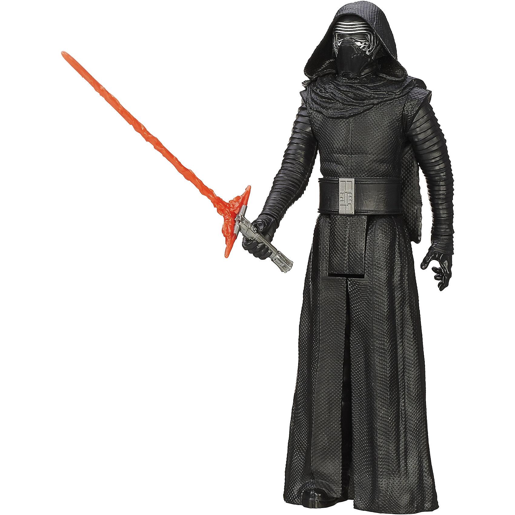 Титаны: Кайло Рен, Герои вселенной, Звездные ВойныФигурка Кайло Рена от Hasbro, станет приятным сюрпризом для вашего ребенка, особенно если он является поклонником популярной фантастической киносаги Star Wars. Фигурка выполнена из высококачественного пластика, прекрасно детализирована и реалистично раскрашена. Теперь можно разыгрывать по-настоящему масштабные сражения с любимыми персонажами. У фигурки подвижные части тела с 5 точками артикуляции, что позволяет придать ей любую позу. <br><br>Дополнительная информация:  <br><br>- В комплекте: 1 фигурка, 1 оружие.<br>- Материал: пластик. <br>- Высота фигурки: 30 см. <br>- Размер упаковки: 30,5 х 5 х 10 см.   <br>- Голова, руки, ноги подвижные.<br><br>Фигурку Титаны: Кайло Рен, Герои вселенной, Звездные Войны (Star Wars), можно купить в нашем интернет-магазине.<br><br>Ширина мм: 309<br>Глубина мм: 102<br>Высота мм: 57<br>Вес г: 328<br>Возраст от месяцев: 48<br>Возраст до месяцев: 96<br>Пол: Мужской<br>Возраст: Детский<br>SKU: 4702908