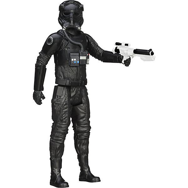 Титаны: Tie Пилот, Герои вселенной, Звездные ВойныКоллекционные и игровые фигурки<br>Фигурка Пилота Tie от Hasbro, станет приятным сюрпризом для вашего ребенка, особенно если он является поклонником популярной фантастической киносаги Star Wars. Фигурка выполнена из высококачественного пластика, прекрасно детализирована и реалистично раскрашена. Теперь можно разыгрывать по-настоящему масштабные сражения с любимыми персонажами. У фигурки подвижные части тела с 5 точками артикуляции, что позволяет придать ей любую позу. <br><br>Дополнительная информация:  <br><br>- В комплекте: 1 фигурка, 1 оружие.<br>- Материал: пластик. <br>- Высота фигурки: 30 см. <br>- Размер упаковки: 30,5 х 5 х 10 см.   <br>- Голова, руки, ноги подвижные.<br><br>Фигурку Титаны: Tie Пилот, Герои вселенной, Звездные Войны (Star Wars), можно купить в нашем интернет-магазине.<br>Ширина мм: 309; Глубина мм: 102; Высота мм: 57; Вес г: 328; Возраст от месяцев: 48; Возраст до месяцев: 96; Пол: Мужской; Возраст: Детский; SKU: 4702909;