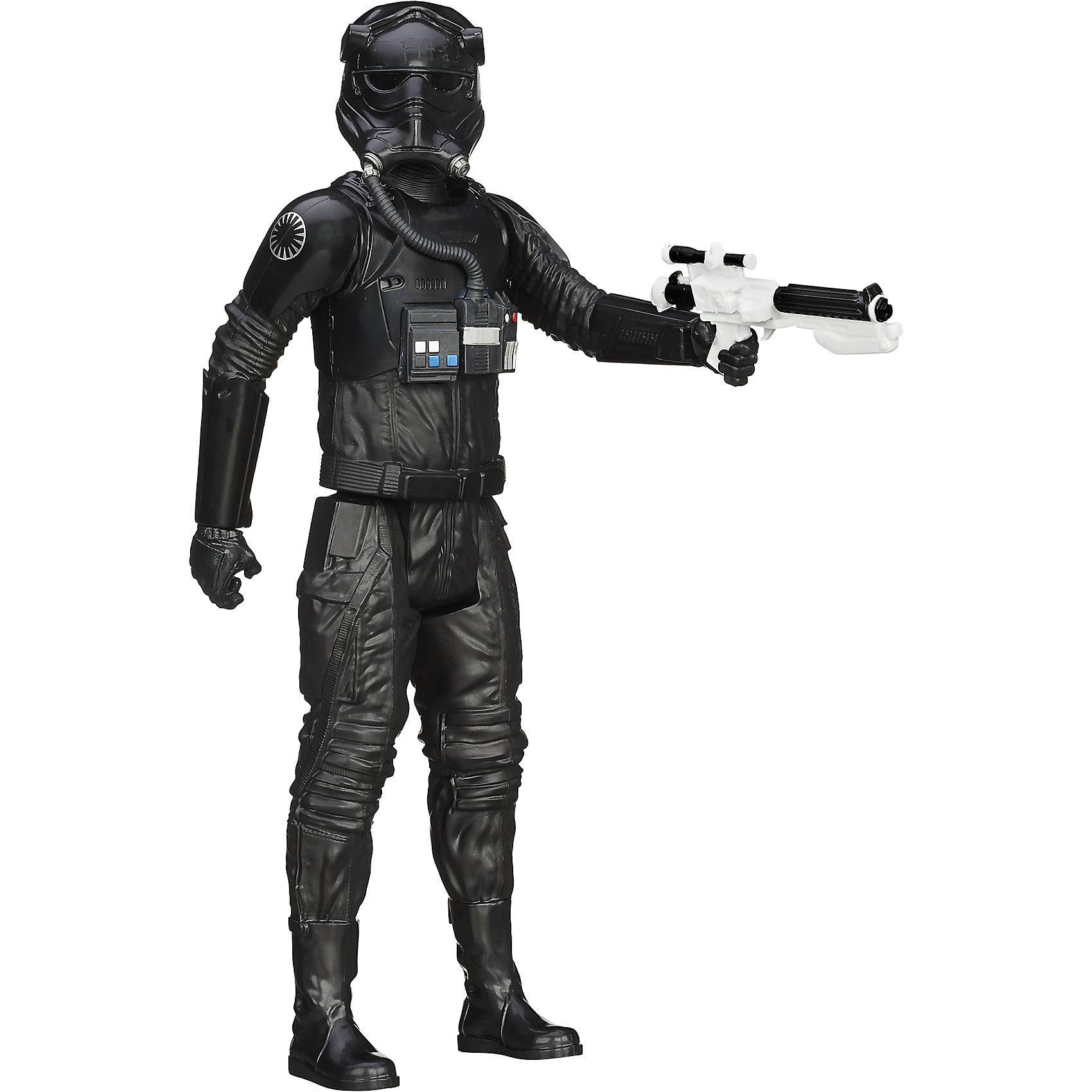 Титаны: Tie Пилот, Герои вселенной, Звездные ВойныКоллекционные и игровые фигурки<br>Фигурка Пилота Tie от Hasbro, станет приятным сюрпризом для вашего ребенка, особенно если он является поклонником популярной фантастической киносаги Star Wars. Фигурка выполнена из высококачественного пластика, прекрасно детализирована и реалистично раскрашена. Теперь можно разыгрывать по-настоящему масштабные сражения с любимыми персонажами. У фигурки подвижные части тела с 5 точками артикуляции, что позволяет придать ей любую позу. <br><br>Дополнительная информация:  <br><br>- В комплекте: 1 фигурка, 1 оружие.<br>- Материал: пластик. <br>- Высота фигурки: 30 см. <br>- Размер упаковки: 30,5 х 5 х 10 см.   <br>- Голова, руки, ноги подвижные.<br><br>Фигурку Титаны: Tie Пилот, Герои вселенной, Звездные Войны (Star Wars), можно купить в нашем интернет-магазине.<br><br>Ширина мм: 309<br>Глубина мм: 102<br>Высота мм: 57<br>Вес г: 328<br>Возраст от месяцев: 48<br>Возраст до месяцев: 96<br>Пол: Мужской<br>Возраст: Детский<br>SKU: 4702909