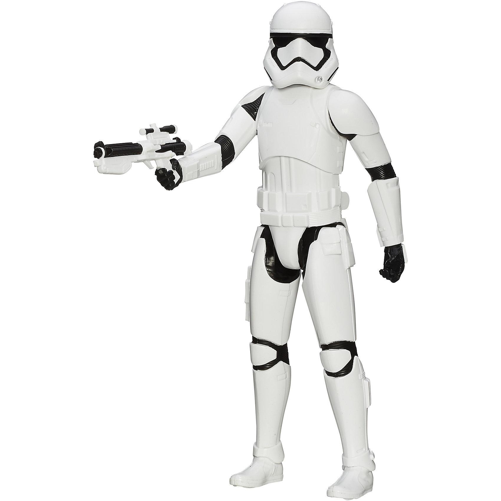 Титаны: Штурмовик, Герои вселенной, Звездные ВойныФигурка Штурмовика от Hasbro, станет приятным сюрпризом для вашего ребенка, особенно если он является поклонником популярной фантастической киносаги Star Wars. Фигурка выполнена из высококачественного пластика, прекрасно детализирована и реалистично раскрашена. Теперь можно разыгрывать по-настоящему масштабные сражения с любимыми персонажами. У фигурки подвижные части тела с 5 точками артикуляции, что позволяет придать ей любую позу. <br><br>Дополнительная информация:  <br><br>- В комплекте: 1 фигурка, 1 оружие.<br>- Материал: пластик. <br>- Высота фигурки: 30 см. <br>- Размер упаковки: 30,5 х 5 х 10 см.   <br>- Голова, руки, ноги подвижные.<br><br>Фигурку Титаны: Штурмовика, Герои вселенной, Звездные Войны (Star Wars), можно купить в нашем интернет-магазине.<br><br>Ширина мм: 309<br>Глубина мм: 102<br>Высота мм: 57<br>Вес г: 328<br>Возраст от месяцев: 48<br>Возраст до месяцев: 96<br>Пол: Мужской<br>Возраст: Детский<br>SKU: 4702910