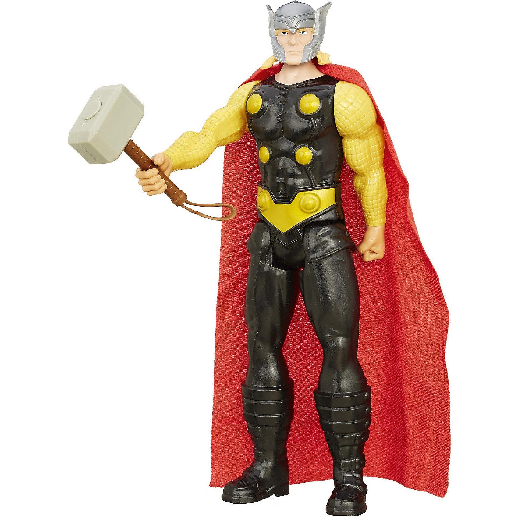 Фигурка Титаны: Тор, МстителиМстители Игрушки и пазлы<br>Фигурка Тора станет приятным сюрпризом для вашего ребенка, особенно если он является поклонником популярных комиксов и фильмов о супергероях Мстители (Avengers). Тор - сын богов Асгарда, Одина и Геи, спустившийся на землю. В руках герой держит Мьёльнир - уникальный молот, который он получил, доказав, что является достойным воином. Фигурка имеет множество точек артикуляции, что позволяет ей приобретать самые реалистичные позы, выполнена из высококачественного пластика, прекрасно детализирована и реалистично раскрашена. Собери все фигурки титанов и погрузись в увлекательную игру вместе с любимыми героями! <br><br>Дополнительная информация: <br><br>- Материал: пластик.<br>- Размер: 30 см.<br>- Голова, руки, ноги подвижные. <br><br>Фигурку Титаны: Тор, Мстители, можно купить в нашем магазине.<br><br>Ширина мм: 306<br>Глубина мм: 104<br>Высота мм: 55<br>Вес г: 258<br>Возраст от месяцев: 48<br>Возраст до месяцев: 96<br>Пол: Мужской<br>Возраст: Детский<br>SKU: 4702914