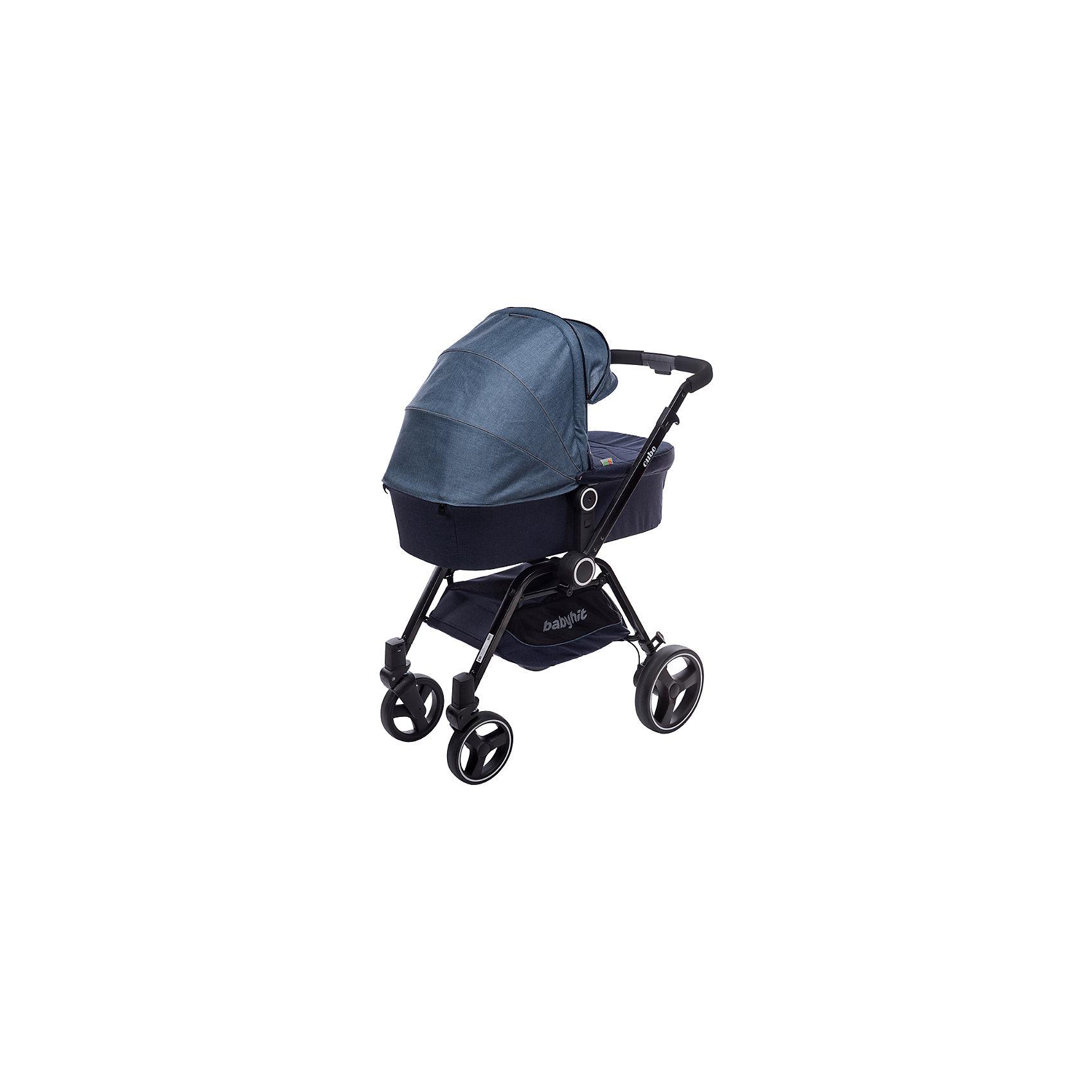 Коляска 2-в-1 CUBE, Baby Hit, синий