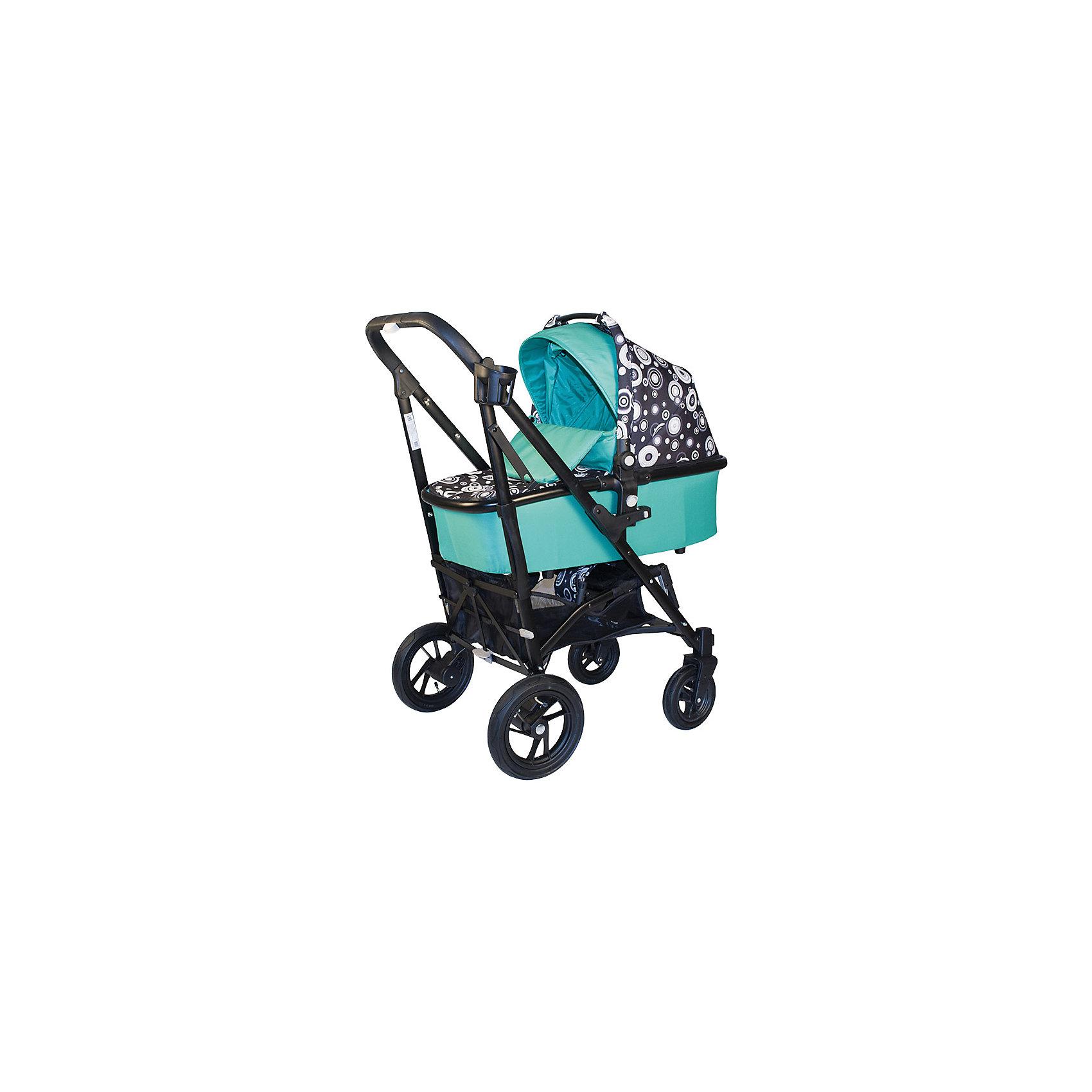 Коляска-трость 2-в-1 DRIVE 2, Baby Hit, черный/зеленыйУниверсальная модульная коляска Babyhit Drive2 <br><br>Коляска Drive представляет собой уникальное сочетание рамы с механизмом складывания по типу коляски-трости с надувными резиновыми колесами.<br>Основа коляски BabyHit Drive - это современная алюминиевая рама, которая обеспечивает достаточную легкость коляски при сохранении прочности конструкции. Механизм складывания коляски выполнен как у обычной коляски-трость, когда колеса при складывании разъезжаются в разные стороны. Такое складывание обеспечивает наиболее компактные размеры коляски в сложенном виде. Благодаря компактному типу складывания, коляска легко помещается в багажник автомобиля и не займет много места даже в небольшом помещении <br><br><br>Характеристика:<br><br>Люлька с ручкой переноской (размер спального места 75 х 34 см)<br>Рама складывается как коляска-трость<br>Капюшон «батискаф» на прогулочном сиденье и люльке<br>Съемный поручень прогулочного сидения<br>Регулируемая спинка прогулочного блока (положение «лежа»)<br>Колеса надувные: диаметр передних 18 см, диаметр задних 25 см<br>Передние поворотные колеса с фиксацией в положении «прямо»<br>Система амортизации на всех колесах<br>Багажная корзина<br>В комплекте:<br>2 полога, москитная сетка, дождевик, подстаканник, насос.<br><br>Вес коляски с прогулочным блоком: 11 кг<br>Вес коляски с люлькой: 13,5 кг<br><br>Ширина мм: 460<br>Глубина мм: 255<br>Высота мм: 970<br>Вес г: 17300<br>Возраст от месяцев: 0<br>Возраст до месяцев: 36<br>Пол: Унисекс<br>Возраст: Детский<br>SKU: 4703028