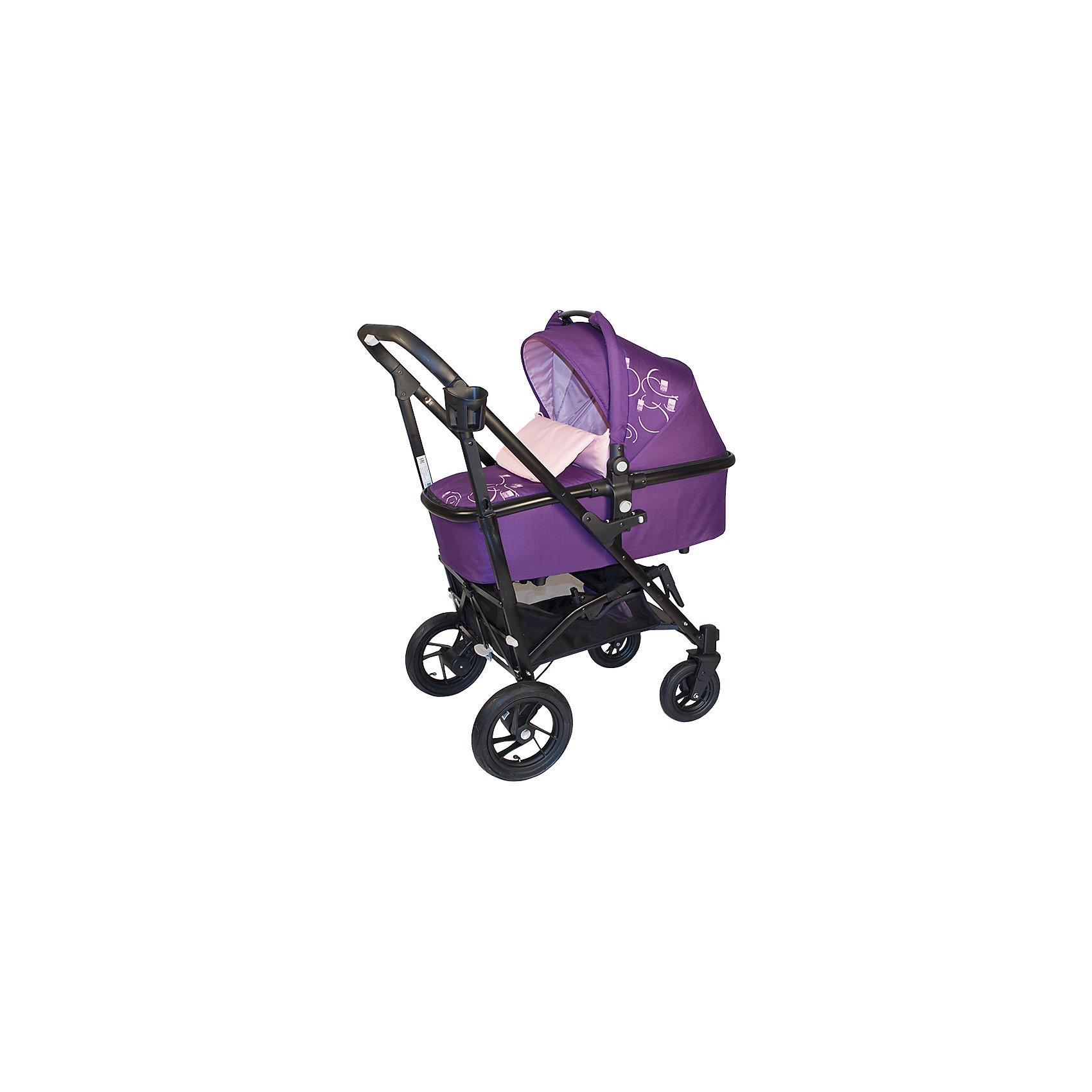 Коляска-трость BabyHit 2 в 1 DRIVE 2, фиолетовыйКоляски 2 в 1<br>Универсальная модульная коляска Babyhit Drive2 <br><br>Коляска Drive представляет собой уникальное сочетание рамы с механизмом складывания по типу коляски-трости с надувными резиновыми колесами.<br>Основа коляски BabyHit Drive - это современная алюминиевая рама, которая обеспечивает достаточную легкость коляски при сохранении прочности конструкции. Механизм складывания коляски выполнен как у обычной коляски-трость, когда колеса при складывании разъезжаются в разные стороны. Такое складывание обеспечивает наиболее компактные размеры коляски в сложенном виде. Благодаря компактному типу складывания, коляска легко помещается в багажник автомобиля и не займет много места даже в небольшом помещении <br><br><br>Характеристика:<br><br>Люлька с ручкой переноской (размер спального места 75 х 34 см)<br>Рама складывается как коляска-трость<br>Капюшон «батискаф» на прогулочном сиденье и люльке<br>Съемный поручень прогулочного сидения<br>Регулируемая спинка прогулочного блока (положение «лежа»)<br>Колеса надувные: диаметр передних 18 см, диаметр задних 25 см<br>Передние поворотные колеса с фиксацией в положении «прямо»<br>Система амортизации на всех колесах<br>Багажная корзина<br>В комплекте:<br>2 полога, москитная сетка, дождевик, подстаканник, насос.<br><br>Вес коляски с прогулочным блоком: 11 кг<br>Вес коляски с люлькой: 13,5 кг<br><br>Ширина мм: 460<br>Глубина мм: 255<br>Высота мм: 970<br>Вес г: 17300<br>Возраст от месяцев: 0<br>Возраст до месяцев: 36<br>Пол: Унисекс<br>Возраст: Детский<br>SKU: 4703029