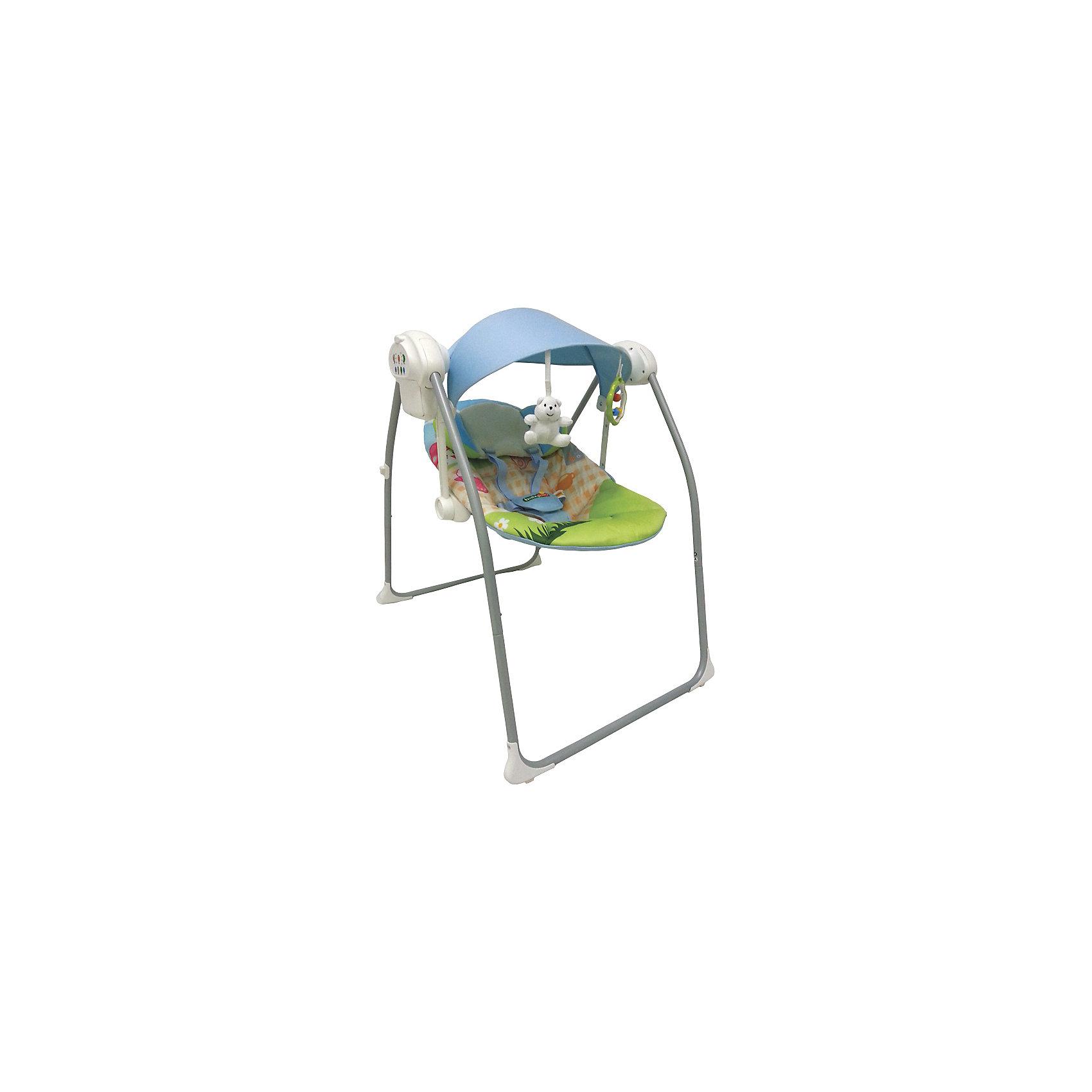 Электрокачели Deep Sleep, Baby Hit, зеленый/голубойКачели электронные<br>Новинка 2015 года! Электрокачели детские Babyhit Deep Sleep<br><br>Детские качели Babyhit Deep Sleep - удобны для комфортного отдыха и сна малыша. Приятные расцветки и функциональный дизайн. Сиденье эргономической формы имеет пяти точечный ремень безопасности и мягкий подголовник. Так же предусмотрено три режима качения, 8 мелодий подобраны детскими психологами. <br><br>Характеристика детских качелей Babyhit Deep Sleep:<br>Питание от батареек и сети 220 В<br>Количество скоростей: 3<br>Таймер на 10, 20, 30 минут<br>Количество мелодий: 8<br>Регулировка громкости мелодий<br>2 положения наклона спинки<br>Капюшон с подвесными игрушками<br>Система укачивания оснащена датчиком движения<br>Ремни безопасности<br><br>Ширина мм: 415<br>Глубина мм: 155<br>Высота мм: 640<br>Вес г: 5700<br>Возраст от месяцев: 0<br>Возраст до месяцев: 6<br>Пол: Унисекс<br>Возраст: Детский<br>SKU: 4703037