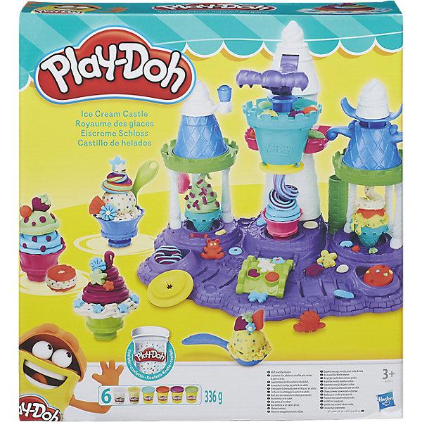 Игровой набор Замок мороженого, Play-DohНаборы для лепки<br>Игровой набор Замок мороженого, Play-Doh - набор, с помощью которого ваши детки смогут проявить свои творческие способности, самостоятельно создавая мороженое из пластилина и придумывая его уникальный дизайн.<br><br>Всего в наборе есть 6 дисков, определяющих форму, в которой будет выдавливаться пластилин. Диск нужно подставить под основную башню замка и потом нажимать на рычаг. Он специально рассчитан на детей, поэтому нажимается легко и им удобно пользоваться.<br>Когда основа мороженого будет сделана, можно украсить свое пластилиновое лакомство кремом и декоративными элементами, изображающими съедобные звездочки, цветочки и другие предметы. Для большего веселья в наборе имеются баночки пластилина с разноцветным конфетти.<br>С помощью баночек с пластилином, дисков-насадок для пресса и ролика для раскатывания массы можно будет создать мороженое, которым можно накормить все свои игрушки.<br>Набор развивает моторику и творческие способности вашего ребенка!<br><br>Дополнительная информация:<br><br><br>В набор входит: установка для создания мороженого (замок), аксессуары, 6 баночек пластилина Play-Doh.<br>Материалы: пластмасса, пластилин.<br>Размер упаковки: 30 х 9 х 33 см.<br>Вес: 336 г.<br><br>Игровой набор Замок мороженого, Play-Doh можно купить в нашем интернет-магазине.<br><br>Ширина мм: 334<br>Глубина мм: 306<br>Высота мм: 89<br>Вес г: 1315<br>Возраст от месяцев: 36<br>Возраст до месяцев: 72<br>Пол: Женский<br>Возраст: Детский<br>SKU: 4707479