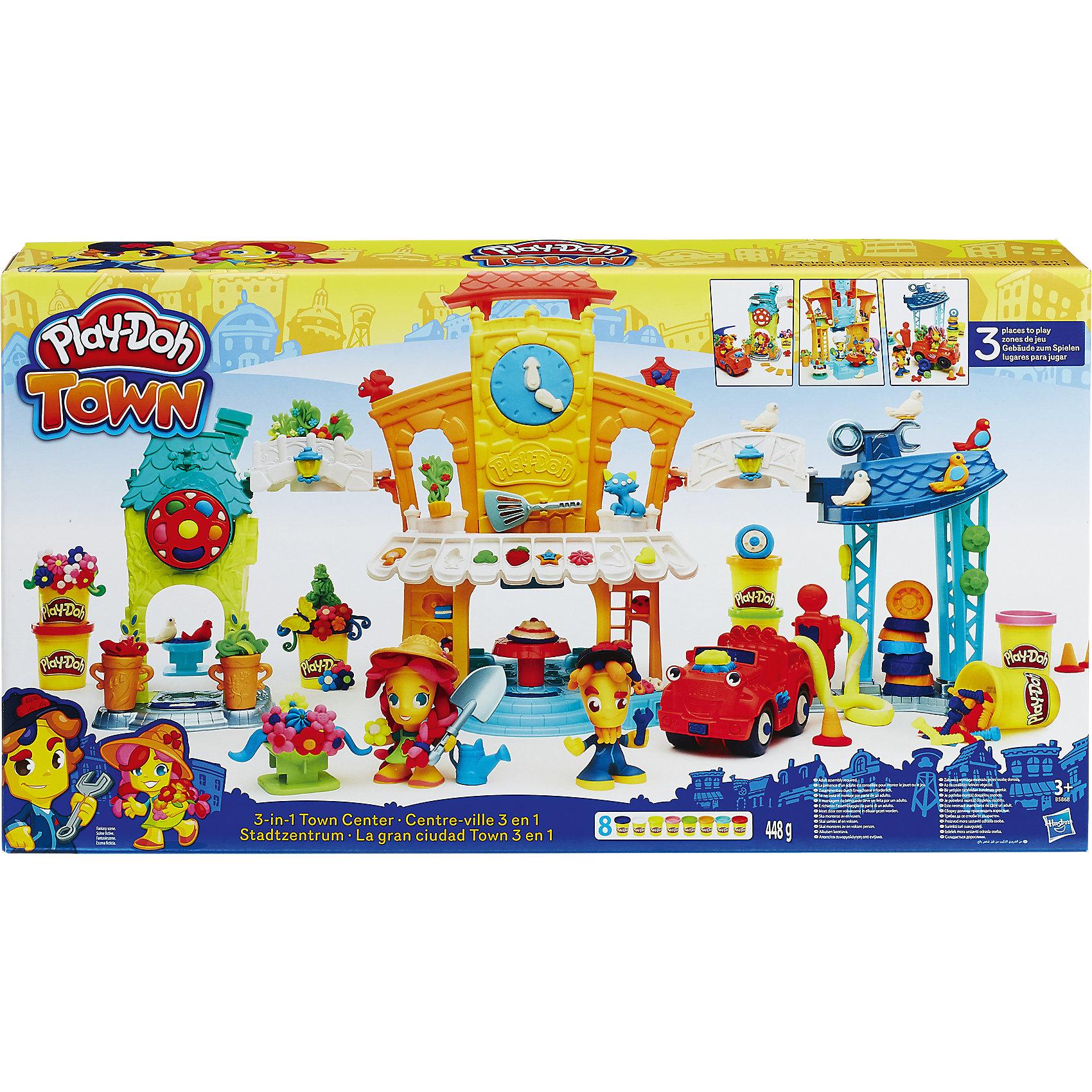 Hasbro Игровой набор Главная улица, Play-Doh Город hasbro play doh b3418 игровой набор магазинчик домашних питомцев