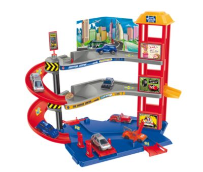 - Набор Парковочная башня с 3 машинками , Dave Toy