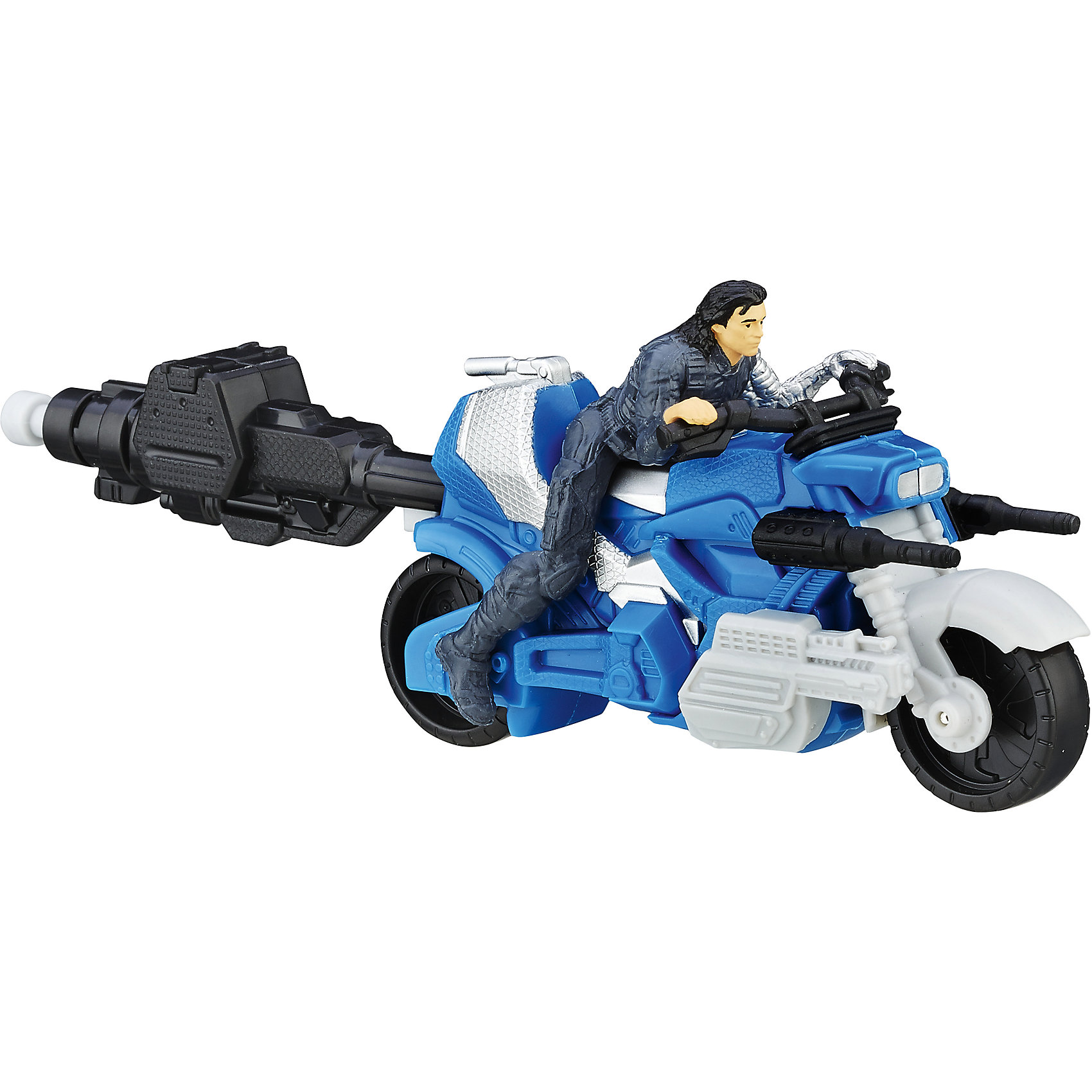 Боевая машина МстителейБоевая машина Мстителей станет отличным подарком для всех юных поклонников популярных супергероев. Ваш ребенок сможет придумать и разыграть множество новых историй о приключениях любимых персонажей. В ассортименте представлены два набора, созданных по мотивам нового фильма о Мстителях Первый мститель 3: Гражданская война. Один набор включает в себя фигурку Капитана Америки на суперкрутом джипе, второй - фигурку его верного друга Зимнего солдата (Winter Soldier) и его мотоцикл. Наборы продаются по отдельности.<br>Транспортные средства персонажей выполнены из качественного прочного пластика с высокой степенью детализации и выглядят очень эффектно и реалистично. Они легко приводится в движение с помощью специального пускового устройства, позволяя героям выполнить свою боевую миссию. Фигурки очень похожи на своих экранных персонажей, не снимаются с транспортного средства. Игрушки совместимы с набором Башня мстителей.<br><br>Дополнительная информация:<br><br>- В комплекте: фигурка, транспортное средство, пусковое устройство.<br>- Материал: пластик.<br>- Размер упаковки: 19,1 x 5,1 x 21 см.<br>- Вес: 0,15 кг.<br><br>Боевую машину Мстителей, Hasbro, можно купить в нашем интернет-магазине.<br><br>Ширина мм: 51<br>Глубина мм: 191<br>Высота мм: 210<br>Вес г: 150<br>Возраст от месяцев: 48<br>Возраст до месяцев: 192<br>Пол: Мужской<br>Возраст: Детский<br>SKU: 4708239