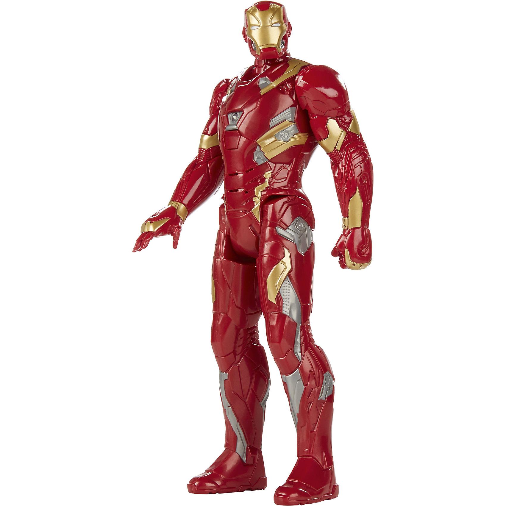 Интерактивная фигурка Железного ЧеловекаИнтерактивные игрушки для малышей<br>Интерактивная фигурка Железного Человека станет отличным подарком для Вашего ребенка, особенно если он является поклонником популярных комиксов и фильмов о супергероях Мстители (Avengers). Большая фигурка Железного человека выполнена с высокой степенью детализации и полностью повторяет своего экранного персонажа. Популярный супергерой обладает мощным костюмом, который великолепно защищает его от противников и придает ему силу и ловкость. У фигурки подвижные части тела, она может поднимать и опускать руки и ноги, вращать головой. Материал представляет собой высококачественный пластик ярких цветов. На груди фигурки расположена кнопка, при нажатии на которую загорается лампочка и раздаются звуковые эффекты, также Железный Человек произносит фразы на русском языке. Теперь вместе с другими фигурками из Мстителей можно придумать и разыграть новые истории о приключениях любимых персонажей.<br><br>Дополнительная информация:<br><br>- Материал: пластик.<br>- Требуются батарейки: 2 х АА (входят в комплект).<br>- Высота фигурки: 30 см.<br>- Размер упаковки: 17,8 х 6,4 х 30,5 см.<br>- Вес: 0,3 кг. <br><br>Интерактивную фигурку Железного Человека, Hasbro, можно купить в нашем интернет-магазине.<br><br>Ширина мм: 64<br>Глубина мм: 178<br>Высота мм: 305<br>Вес г: 375<br>Возраст от месяцев: 48<br>Возраст до месяцев: 192<br>Пол: Мужской<br>Возраст: Детский<br>SKU: 4708242